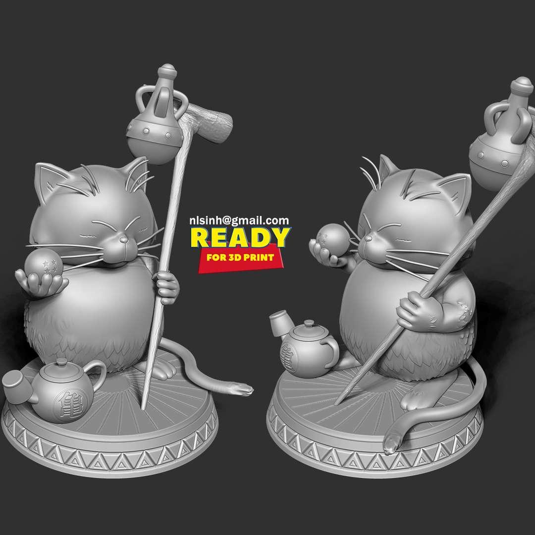 Korin - Dragon Ball Fanart  - Korin (カ リ ン, Karin) is a cat that lived over 800 years at an extremely tall towering tower compared to humanity. He is a martial arts master.  Those who love cats and love Dragon Ball can not help but love this Korin god.  I have divided the individual parts to make it easy for 3D printing:  - OBJ, STL files are ready for 3D printing.  - Zbrush original files (ZTL) for you to customize as you like.  + 13rd April, 2020: This is version 1.0 of this model.  + 22nd July, 2021: version 1.1 - Merge necessary objects and add keys to get ready for 3D printing.  Thanks so much for viewing my model! Hope you guys like him :) - Os melhores arquivos para impressão 3D do mundo. Modelos stl divididos em partes para facilitar a impressão 3D. Todos os tipos de personagens, decoração, cosplay, próteses, peças. Qualidade na impressão 3D. Modelos 3D com preço acessível. Baixo custo. Compras coletivas de arquivos 3D.