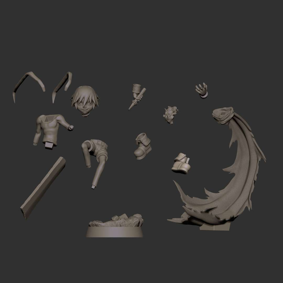Laharl Disgaea - Fan art de Laharl Disgaea: Hour of Darkness. Uma série de jogos eletrônicos RPG tático criada e projetada pela Nippon Ichi - The best files for 3D printing in the world. Stl models divided into parts to facilitate 3D printing. All kinds of characters, decoration, cosplay, prosthetics, pieces. Quality in 3D printing. Affordable 3D models. Low cost. Collective purchases of 3D files.