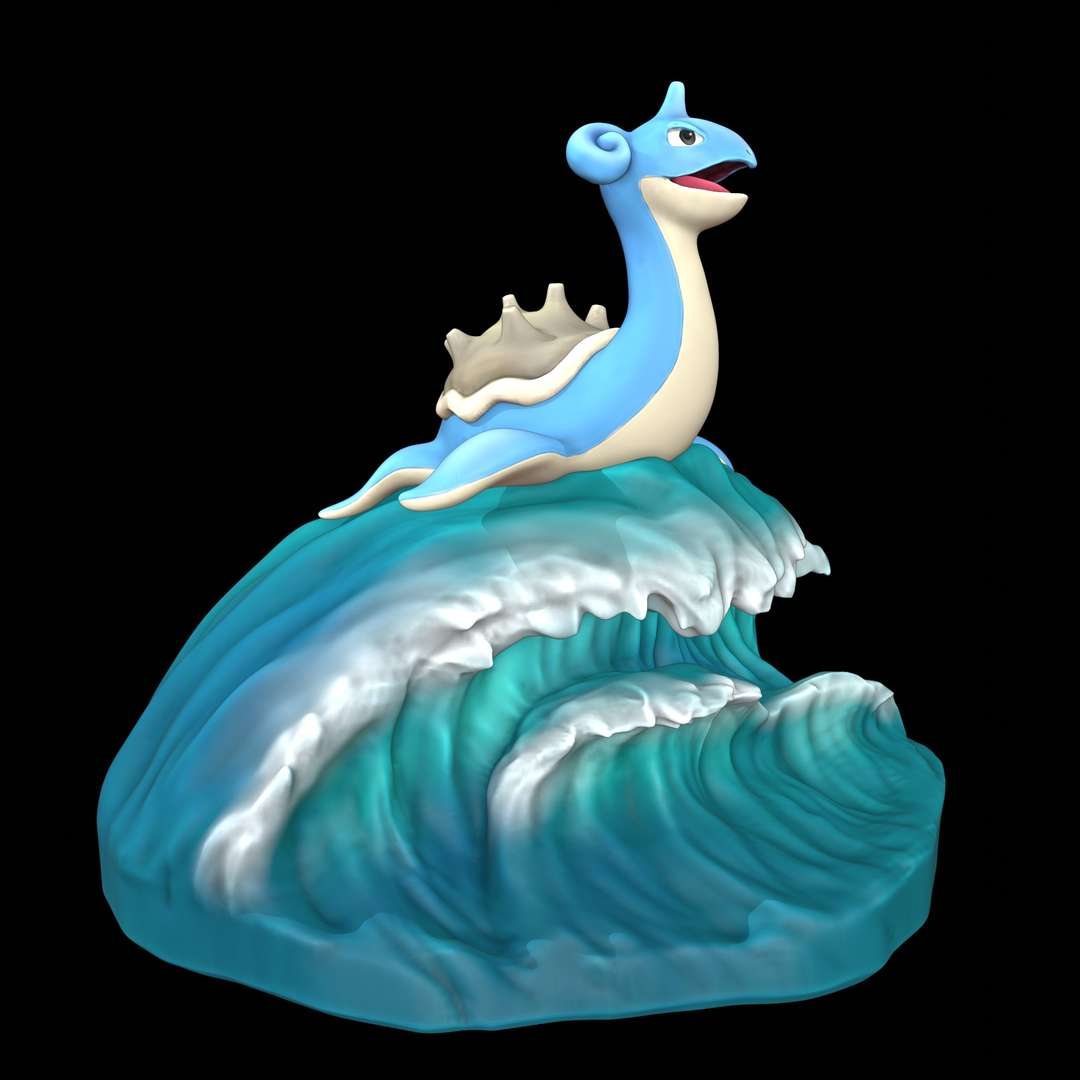 Lapras - Pokemon Lapras, with waveform support. - The best files for 3D printing in the world. Stl models divided into parts to facilitate 3D printing. All kinds of characters, decoration, cosplay, prosthetics, pieces. Quality in 3D printing. Affordable 3D models. Low cost. Collective purchases of 3D files.