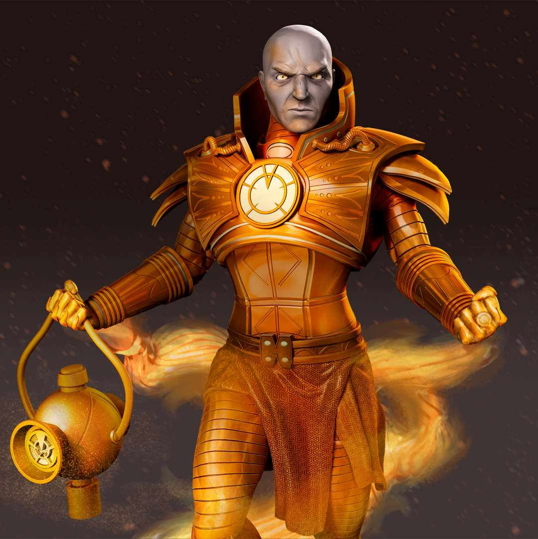 Lex Luthor as Orange Lantern - Lex Luthor as Orange Lantern. Personal collectible developed based on the comics. - The best files for 3D printing in the world. Stl models divided into parts to facilitate 3D printing. All kinds of characters, decoration, cosplay, prosthetics, pieces. Quality in 3D printing. Affordable 3D models. Low cost. Collective purchases of 3D files.