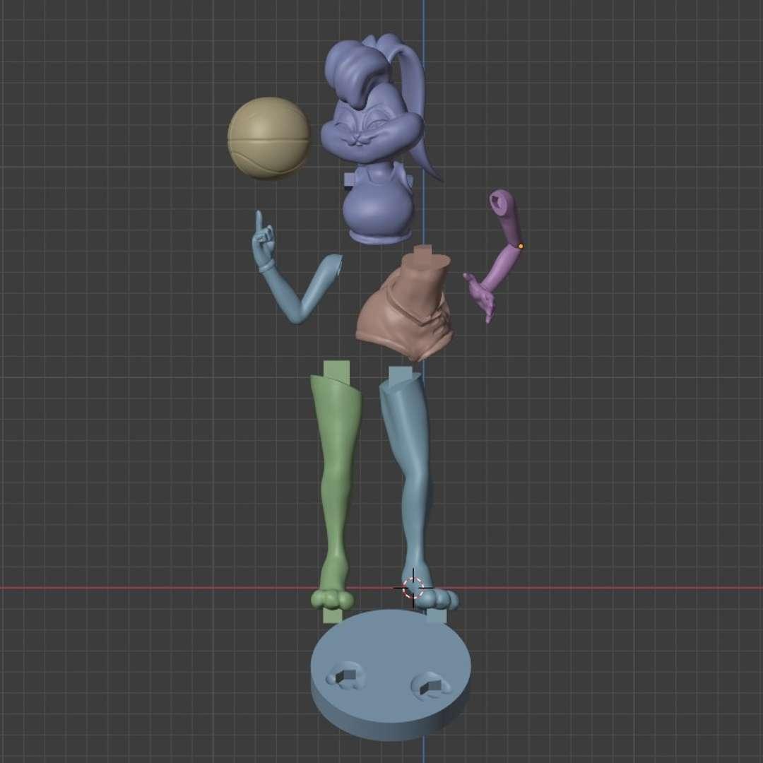 Lola Bunny Space Jam 3D print model - Hello everyone, this is a Lola Bunny 3d print to collectible, inspired in space jam movie. Scale: 1:8 Hope you like it! - Los mejores archivos para impresión 3D del mundo. Modelos Stl divididos en partes para facilitar la impresión 3D. Todo tipo de personajes, decoración, cosplay, prótesis, piezas. Calidad en impresión 3D. Modelos 3D asequibles. Bajo costo. Compras colectivas de archivos 3D.