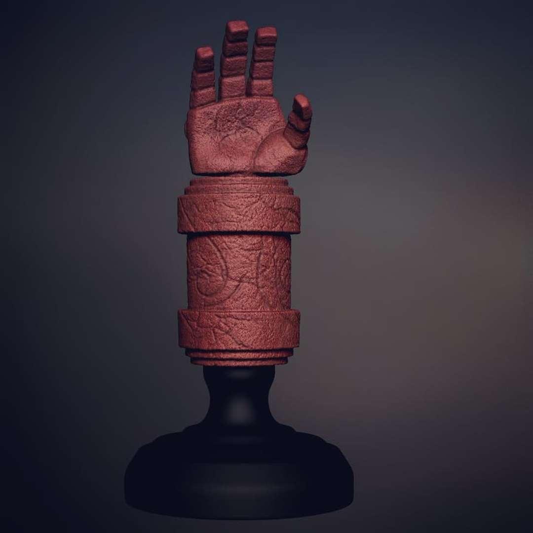 Mão Hellboy - Stylized Hellboy's Hand for 3d Print  File Formats STL.  Model Height(in zbrush):240 mm,Width:110 mm, Depth:110 mm  Decimated Model: 1200k points - Os melhores arquivos para impressão 3D do mundo. Modelos stl divididos em partes para facilitar a impressão 3D. Todos os tipos de personagens, decoração, cosplay, próteses, peças. Qualidade na impressão 3D. Modelos 3D com preço acessível. Baixo custo. Compras coletivas de arquivos 3D.