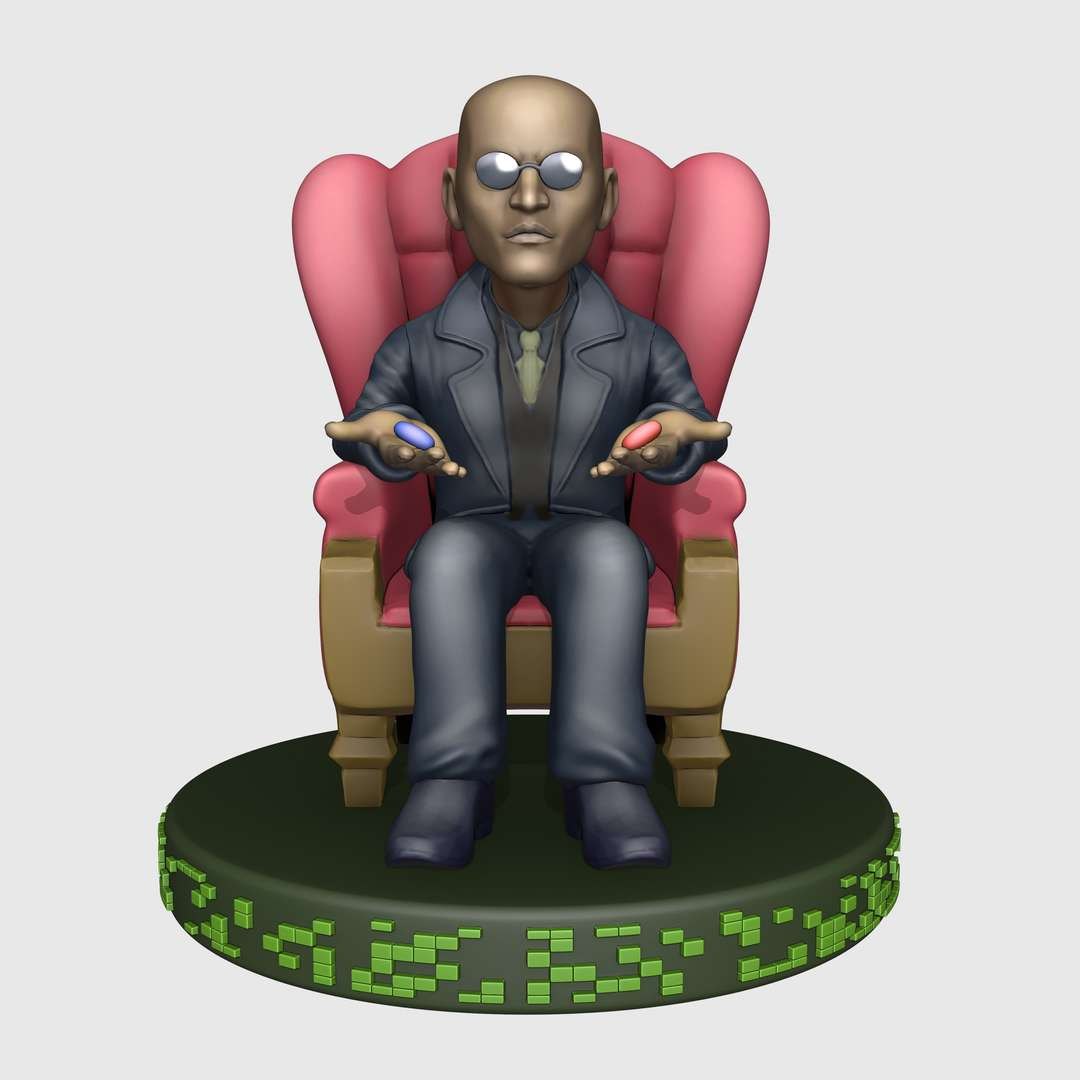 Morpheus cartoon style - Morpheus from the matrix film, the model was cut in different ways. - The best files for 3D printing in the world. Stl models divided into parts to facilitate 3D printing. All kinds of characters, decoration, cosplay, prosthetics, pieces. Quality in 3D printing. Affordable 3D models. Low cost. Collective purchases of 3D files.