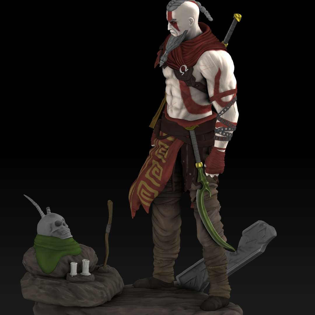 Nordic alternative kratos - Model based on a fan art of a Nordic Kratos. The scale is 1:6 (36cm/14inches) - The best files for 3D printing in the world. Stl models divided into parts to facilitate 3D printing. All kinds of characters, decoration, cosplay, prosthetics, pieces. Quality in 3D printing. Affordable 3D models. Low cost. Collective purchases of 3D files.
