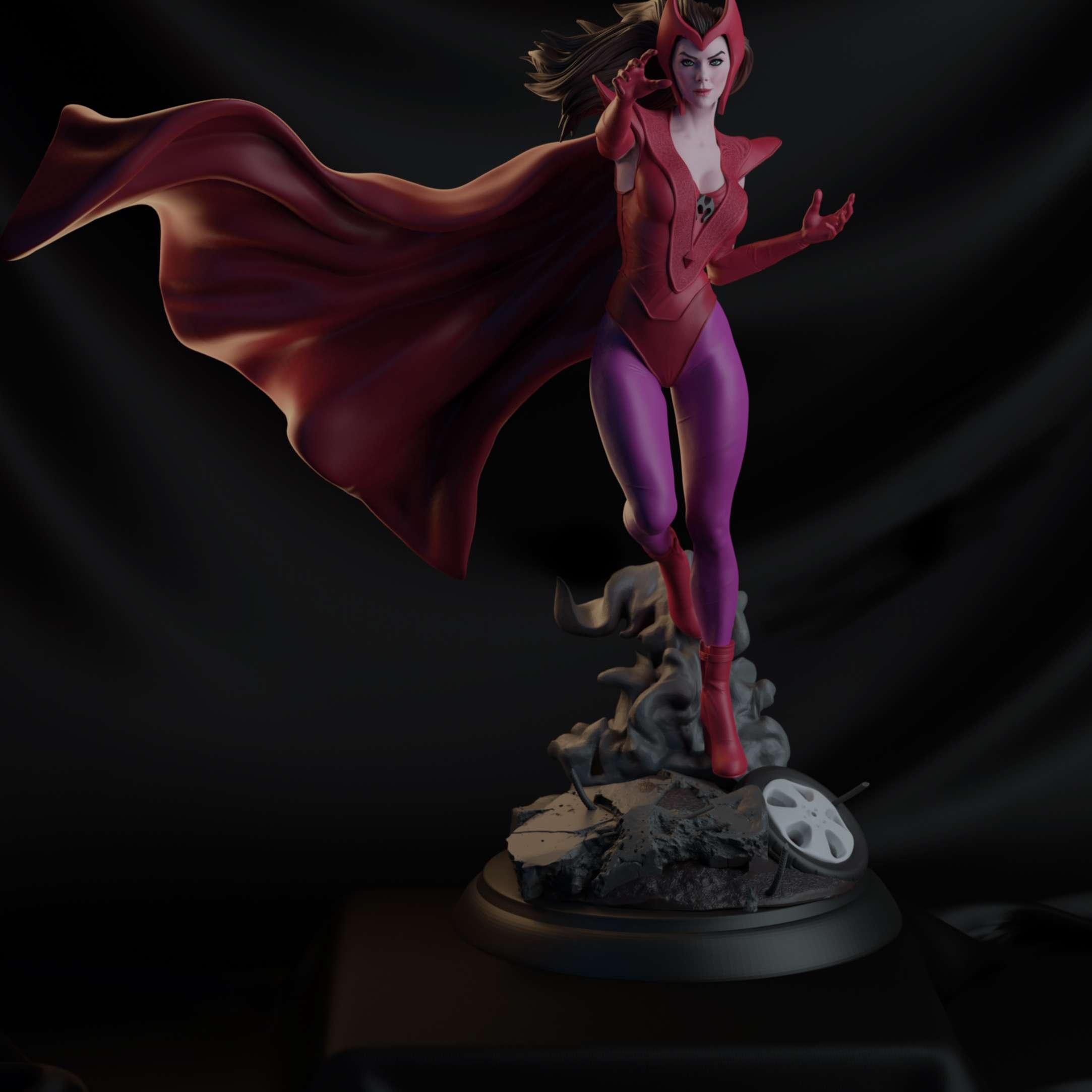 Fanart Scarlet Witch - This is my new project focused on 3D printing, it follows a different concept in uniform - Os melhores arquivos para impressão 3D do mundo. Modelos stl divididos em partes para facilitar a impressão 3D. Todos os tipos de personagens, decoração, cosplay, próteses, peças. Qualidade na impressão 3D. Modelos 3D com preço acessível. Baixo custo. Compras coletivas de arquivos 3D.