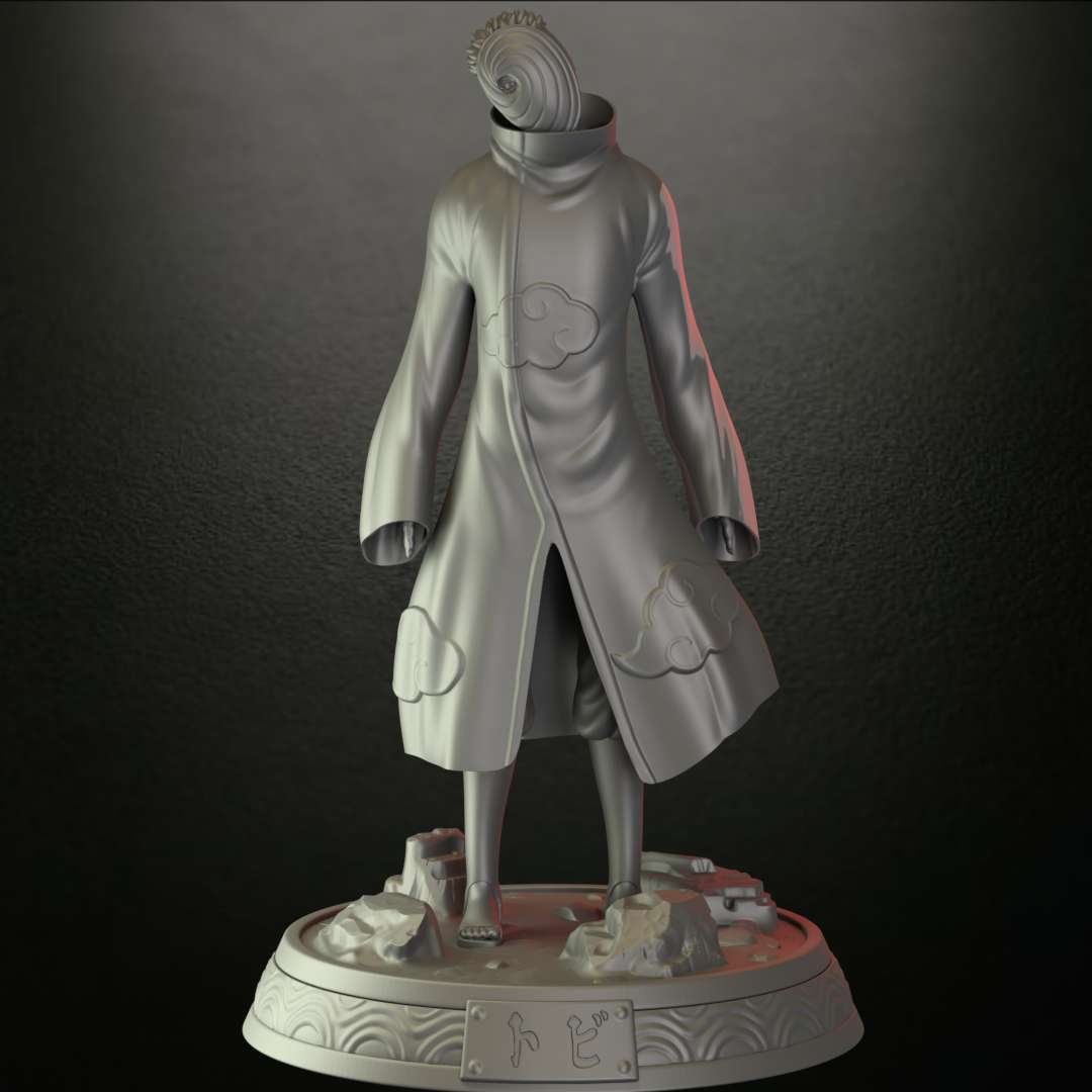 Obito  Uchiha Fan art STL File - Its a digital 3D Printable STL file especially designed for 3d Printers , is not a actual physical product !!   Obito  Uchiha was a member of Konohagakure's Uchiha clan. He was believed to have died during the Third Shinobi World War, his only surviving legacy being the Sharingan he gave to his teammate, Kakashi Hatake. In truth, Obito was saved from death and trained by Madara Uchiha, but the events of the war left Obito disillusioned with reality, and he inherited Madara's plan to create an ideal world. Resurfacing under the names of Tobi (トビ, Tobi) and Madara Uchiha himself, Obito subtly took control of the Akatsuki, using them as a means to advance his machinations, eventually going public and starting the Fourth Shinobi World War. However, towards the war's conclusion, Obito had a change of heart and, as atonement, sacrificed his life to save the same world he sought to replace.   If you love Naruto characters this model is for you , when modelling it i tried to be loyal to the cartoon , the STL model has the option of use 2 differents heads and .  Enjoy !!! - Los mejores archivos para impresión 3D del mundo. Modelos Stl divididos en partes para facilitar la impresión 3D. Todo tipo de personajes, decoración, cosplay, prótesis, piezas. Calidad en impresión 3D. Modelos 3D asequibles. Bajo costo. Compras colectivas de archivos 3D.