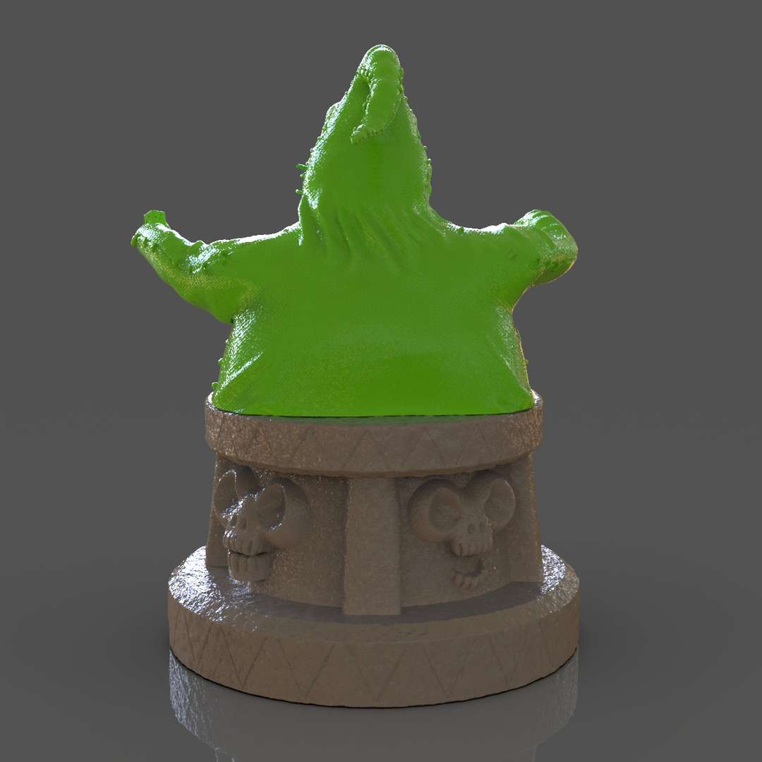 Oogie Boogie Bust - A bust of Oogie Boogie from The Nightmare Before Christmas Movie ready for 3D Printing I separate in two parts for easy 3d print I included the OBJ, STL files if you need 3D Game Assets or STL files I can do commission works.   - The best files for 3D printing in the world. Stl models divided into parts to facilitate 3D printing. All kinds of characters, decoration, cosplay, prosthetics, pieces. Quality in 3D printing. Affordable 3D models. Low cost. Collective purchases of 3D files.