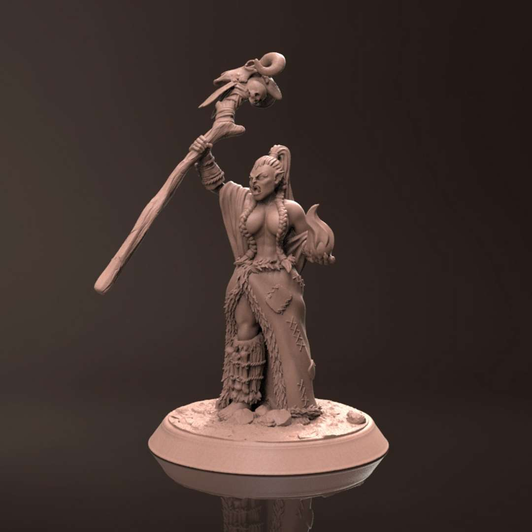 Orc Frigar - Miniature - Miniature for 3d printing, suitable for resin and filament printers, 45mm pre-supported, great for collectors and players of the RPG universe. - The best files for 3D printing in the world. Stl models divided into parts to facilitate 3D printing. All kinds of characters, decoration, cosplay, prosthetics, pieces. Quality in 3D printing. Affordable 3D models. Low cost. Collective purchases of 3D files.