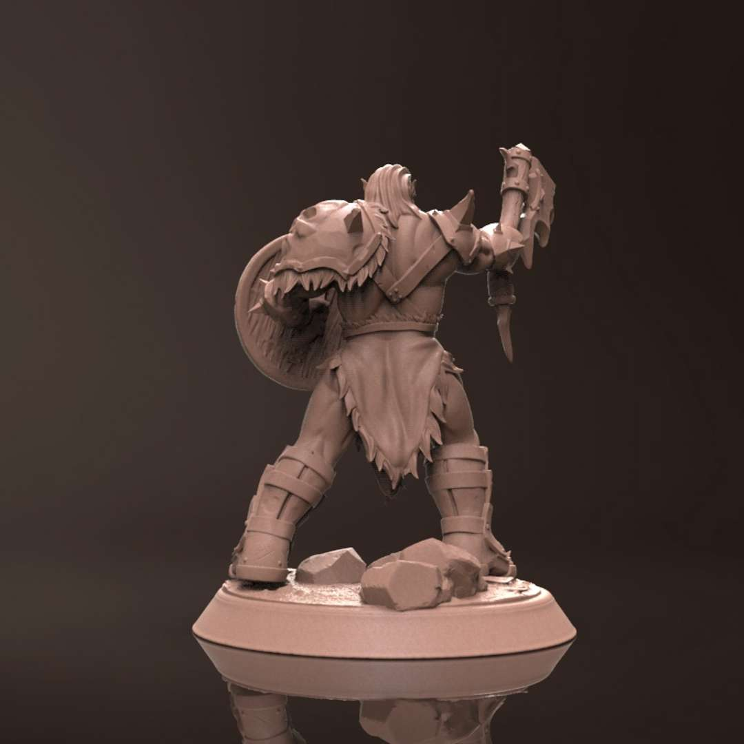 Orc Tarrasco - Miniature - Miniature for 3d printing, suitable for resin and filament printers, 45mm pre-supported, great for collectors and players of the RPG universe. - The best files for 3D printing in the world. Stl models divided into parts to facilitate 3D printing. All kinds of characters, decoration, cosplay, prosthetics, pieces. Quality in 3D printing. Affordable 3D models. Low cost. Collective purchases of 3D files.
