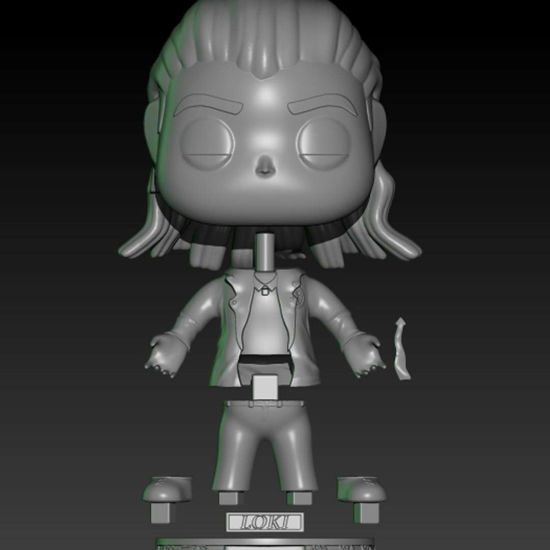 funko loki -   loki funko model with avt jacket. - The best files for 3D printing in the world. Stl models divided into parts to facilitate 3D printing. All kinds of characters, decoration, cosplay, prosthetics, pieces. Quality in 3D printing. Affordable 3D models. Low cost. Collective purchases of 3D files.