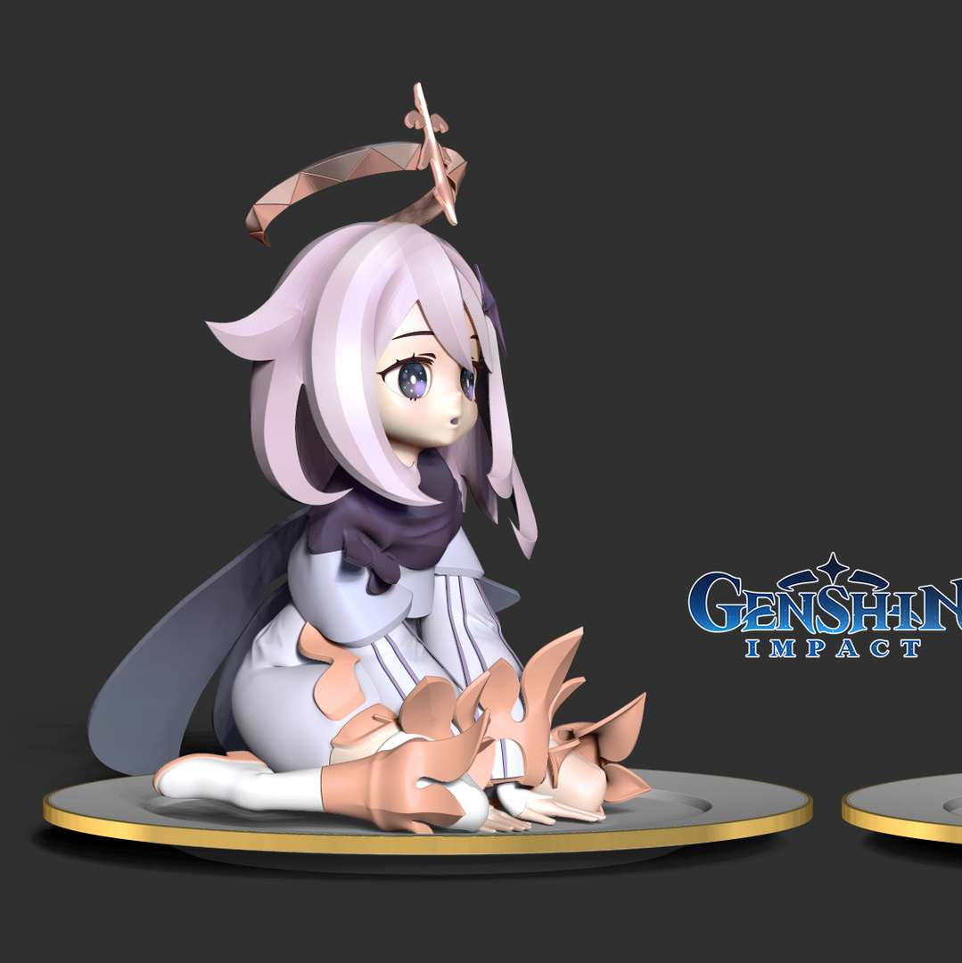 Paimon - Genshin Impact Fanart  - Paimon is a non-playable character in Genshin Impact and accompanies the Traveler throughout their adventure in Teyvat as their guide.  When you purchase this model, you will own:  - STL, OBJ file with 10 separated files (with key to connect together) is ready for 3D printing.  - Zbrush original files (ZTL) for you to customize as you like.  This is version 1.0 of this model.  Hope you like her. Thanks for viewing! - The best files for 3D printing in the world. Stl models divided into parts to facilitate 3D printing. All kinds of characters, decoration, cosplay, prosthetics, pieces. Quality in 3D printing. Affordable 3D models. Low cost. Collective purchases of 3D files.