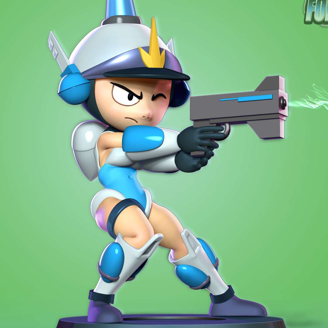 Patricia Wagon - Patricia Patty Wagon is the main protagonist of the Mighty Switch Force! franchise, debuting in the first game, simply titled Mighty Switch Force!. - quote from wiki  When you purchase this model, you will own:  - STL, OBJ file with 06 separated files (with key to connect together) is ready for 3D printing.  - Zbrush original files (ZTL) for you to customize as you like.  This is version 1.0 of this model.  Hope you like her. Thanks for viewing! - Los mejores archivos para impresión 3D del mundo. Modelos Stl divididos en partes para facilitar la impresión 3D. Todo tipo de personajes, decoración, cosplay, prótesis, piezas. Calidad en impresión 3D. Modelos 3D asequibles. Bajo costo. Compras colectivas de archivos 3D.