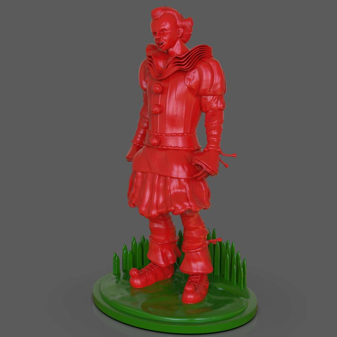 Pennywise IT Sculpture 2017 - Pennywise the dancing clown from the movie and book IT full body and separated by parts for easy 3D Print I included the OBJ, STL, Tool if you need 3D Game Assets or STL files I can do commission works.   - The best files for 3D printing in the world. Stl models divided into parts to facilitate 3D printing. All kinds of characters, decoration, cosplay, prosthetics, pieces. Quality in 3D printing. Affordable 3D models. Low cost. Collective purchases of 3D files.