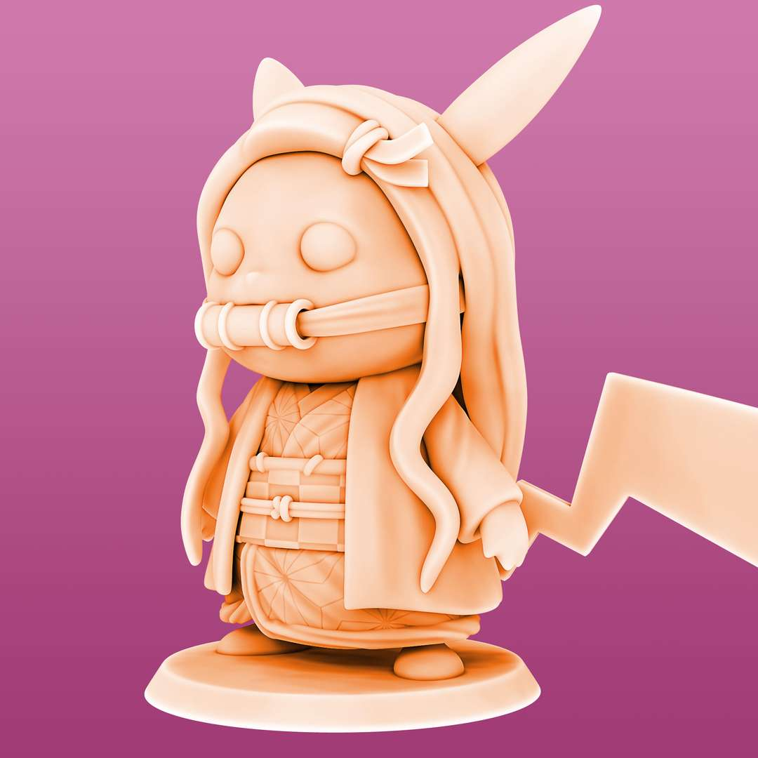 Pikachu cosplay Nezuko - Pikachu Nezuko Cosplay ready for printing 04 STL files ready for printing Model cut and prepared with plug-in pins for printing  I'm a 3D artist for a few years, graduated in game designer, venturing into this area of collectibles that became my passion, I hope you like the models, and if you have any questions or suggestions, just get in touch with me. - Los mejores archivos para impresión 3D del mundo. Modelos Stl divididos en partes para facilitar la impresión 3D. Todo tipo de personajes, decoración, cosplay, prótesis, piezas. Calidad en impresión 3D. Modelos 3D asequibles. Bajo costo. Compras colectivas de archivos 3D.