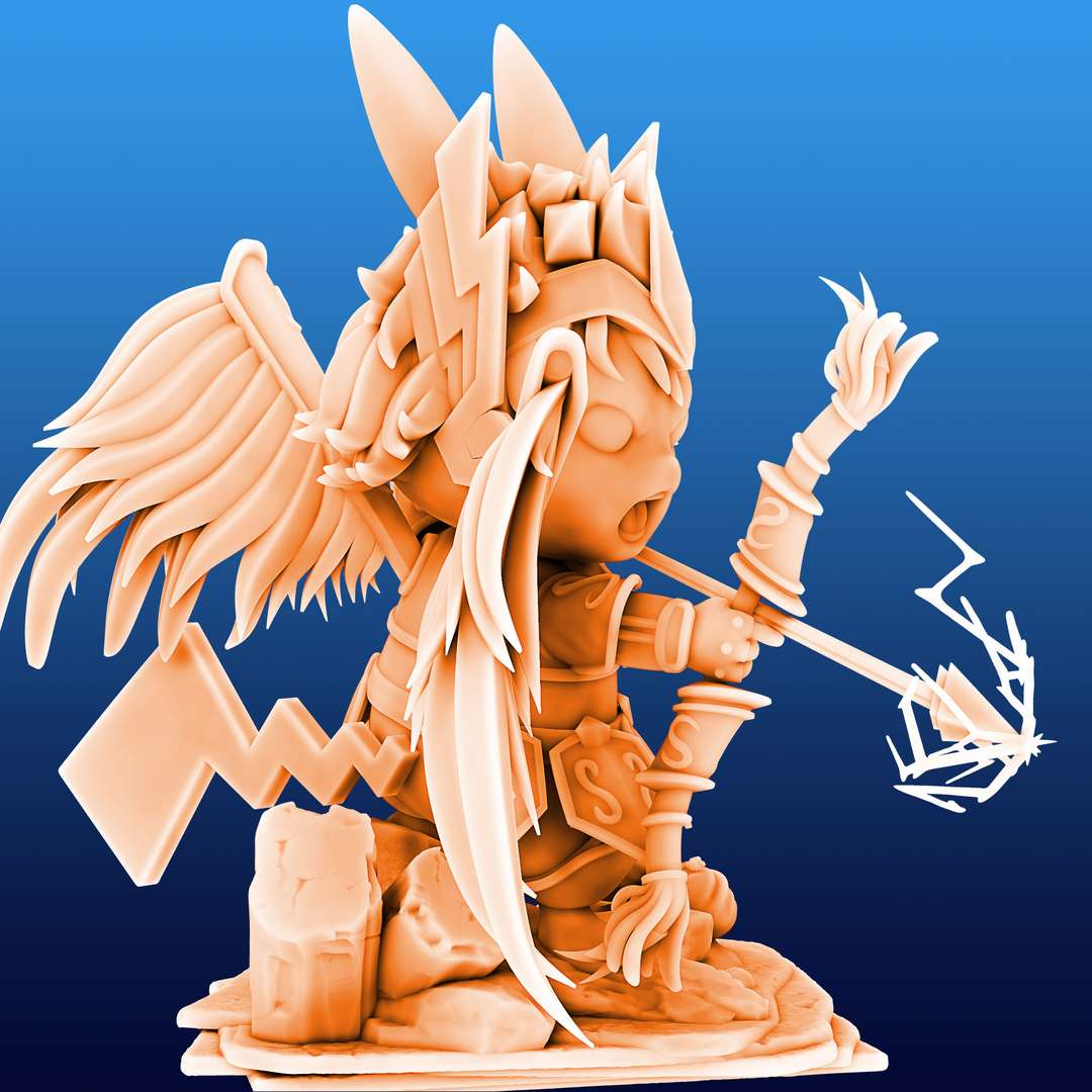 Pikachu Knight of the Zodiac Aiolos Cosplay - Pikachu Knight of the Zodiac Aiolos Cosplay File ready for printing 31 STL files ready for printing Model cut and prepared with plug-in pins for printing  I'm a 3D artist for a few years, graduated in game designer, venturing into this area of collectibles that became my passion, I hope you like the models, and if you have any questions or suggestions, just get in touch with me. - The best files for 3D printing in the world. Stl models divided into parts to facilitate 3D printing. All kinds of characters, decoration, cosplay, prosthetics, pieces. Quality in 3D printing. Affordable 3D models. Low cost. Collective purchases of 3D files.