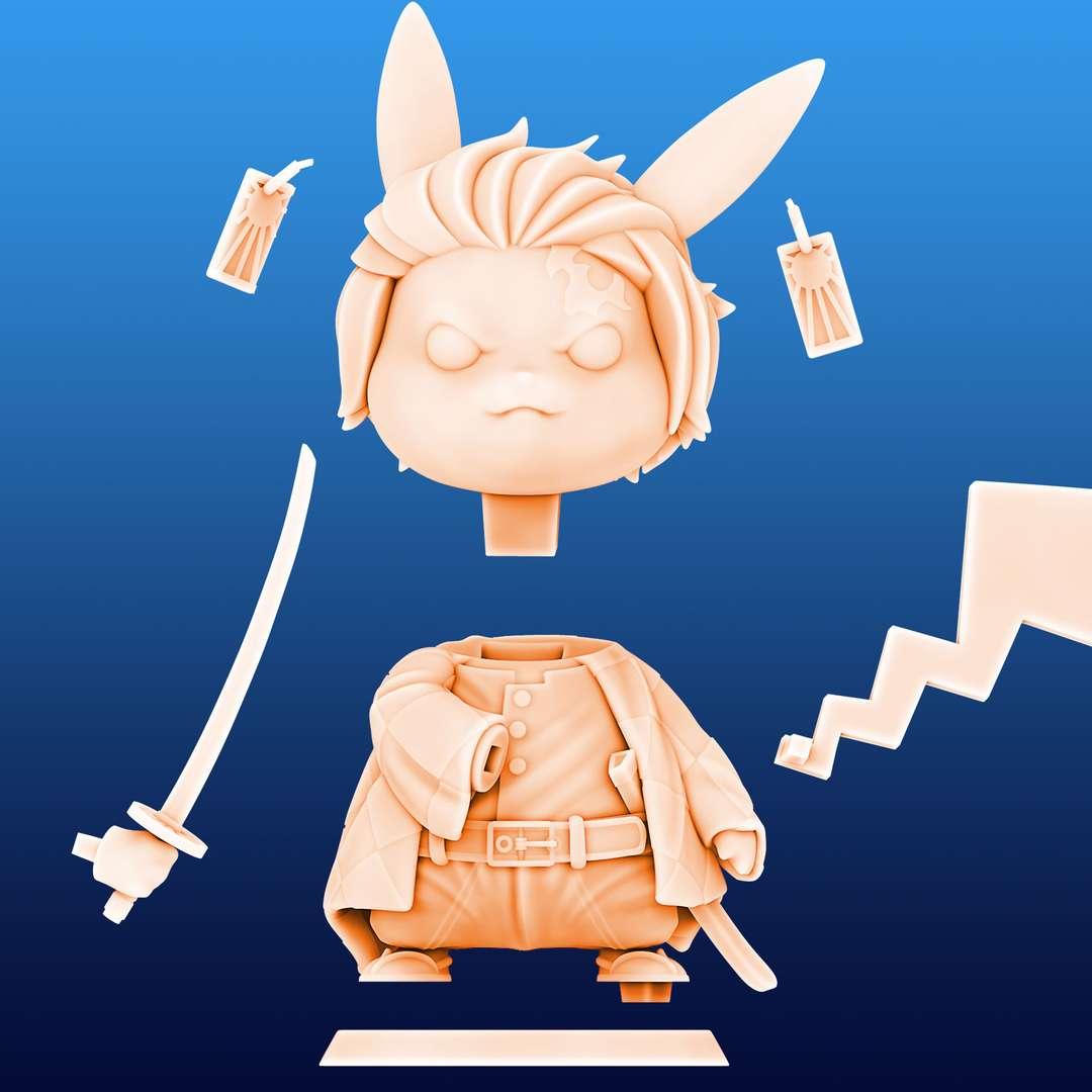 Pikachu Tanjiro Cosplay - Pikachu Tanjiro Cosplay File ready for printing 07 STL files ready for printing Model cut and prepared with plug-in pins for printing  I'm a 3D artist for a few years, graduated in game designer, venturing into this area of collectibles that became my passion, I hope you like the models, and if you have any questions or suggestions, just get in touch with me. - Os melhores arquivos para impressão 3D do mundo. Modelos stl divididos em partes para facilitar a impressão 3D. Todos os tipos de personagens, decoração, cosplay, próteses, peças. Qualidade na impressão 3D. Modelos 3D com preço acessível. Baixo custo. Compras coletivas de arquivos 3D.