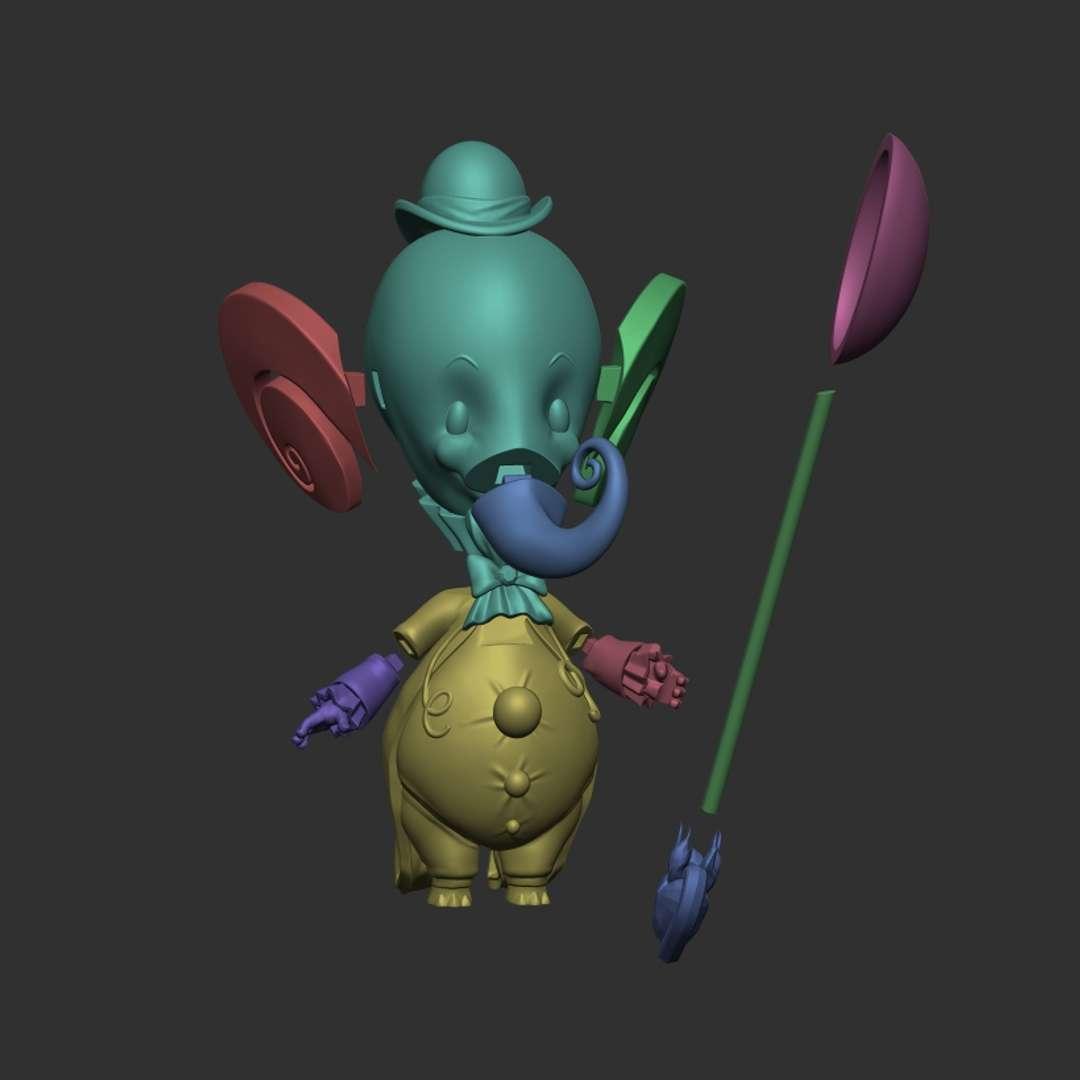 Pink Elephant - Adorable Pink Elephant and his love for silver spoons. - Los mejores archivos para impresión 3D del mundo. Modelos Stl divididos en partes para facilitar la impresión 3D. Todo tipo de personajes, decoración, cosplay, prótesis, piezas. Calidad en impresión 3D. Modelos 3D asequibles. Bajo costo. Compras colectivas de archivos 3D.