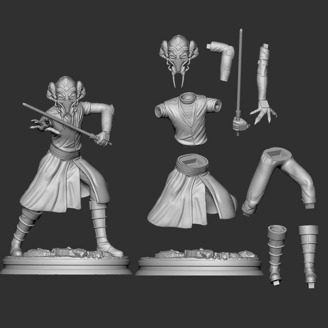 Plo Kloon clone wars - Next in line for clone wars line Plo Koon with rock base to match obi wan and anakin. In the same pose as pocturr - Os melhores arquivos para impressão 3D do mundo. Modelos stl divididos em partes para facilitar a impressão 3D. Todos os tipos de personagens, decoração, cosplay, próteses, peças. Qualidade na impressão 3D. Modelos 3D com preço acessível. Baixo custo. Compras coletivas de arquivos 3D.