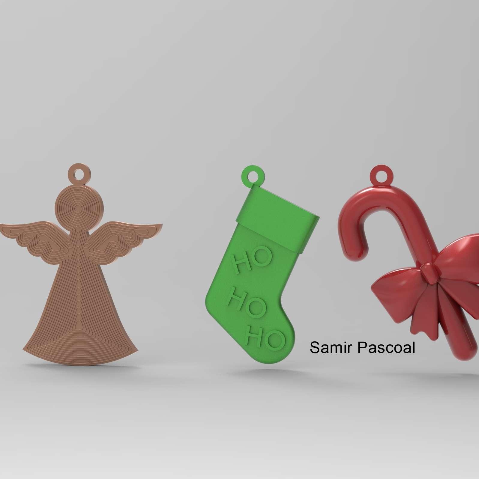 Decoração árvore natal - 4 modelos de enfeites de natal, todos impressos no plano sem suporte - Os melhores arquivos para impressão 3D do mundo. Modelos stl divididos em partes para facilitar a impressão 3D. Todos os tipos de personagens, decoração, cosplay, próteses, peças. Qualidade na impressão 3D. Modelos 3D com preço acessível. Baixo custo. Compras coletivas de arquivos 3D.