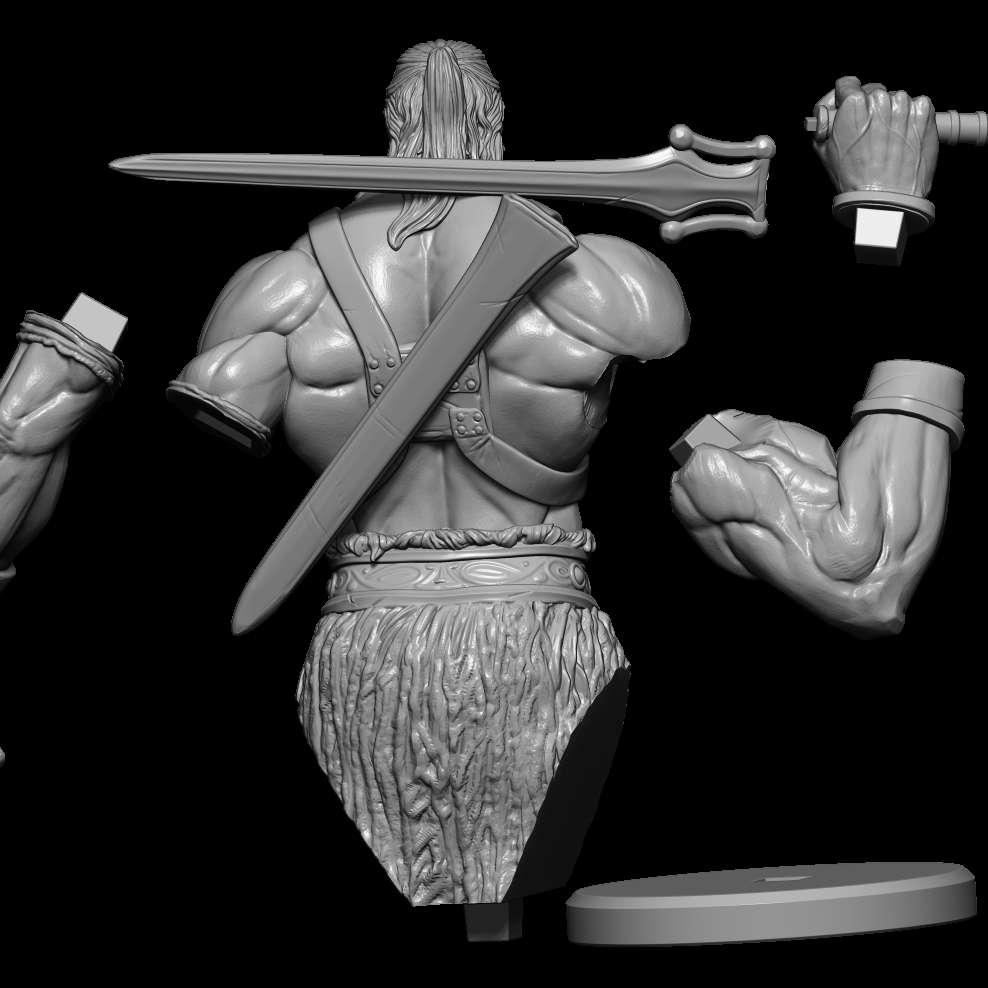 Old He- Man - Esse modelo foi criado baseado no He-Man, mas um Herói mais Badass! Parecendo também mais velho, mas ainda forte e imponente.    - Os melhores arquivos para impressão 3D do mundo. Modelos stl divididos em partes para facilitar a impressão 3D. Todos os tipos de personagens, decoração, cosplay, próteses, peças. Qualidade na impressão 3D. Modelos 3D com preço acessível. Baixo custo. Compras coletivas de arquivos 3D.