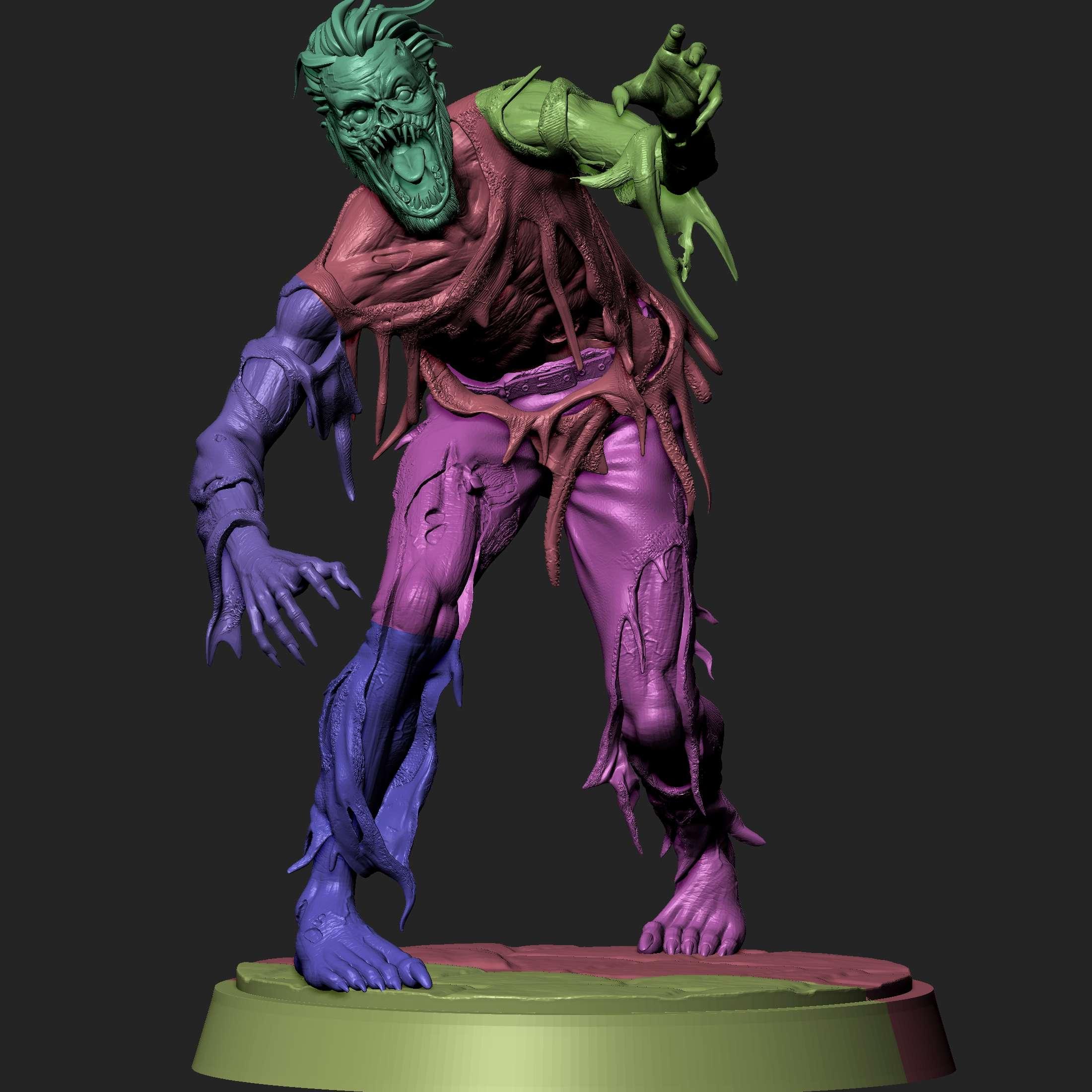 Zombie - Ready to print with cuts and plugs - Los mejores archivos para impresión 3D del mundo. Modelos Stl divididos en partes para facilitar la impresión 3D. Todo tipo de personajes, decoración, cosplay, prótesis, piezas. Calidad en impresión 3D. Modelos 3D asequibles. Bajo costo. Compras colectivas de archivos 3D.