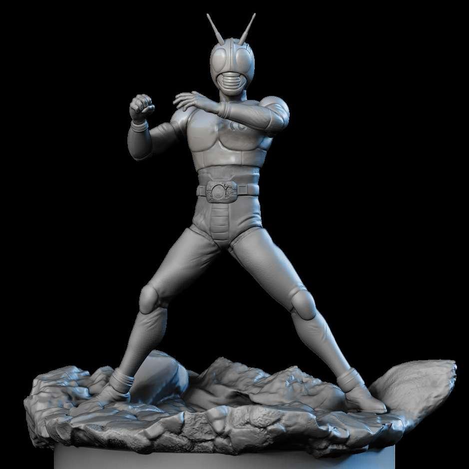 Kamen Rider Black - Kamen rider black from Tokusatsu tv series, a retro metal hero - Los mejores archivos para impresión 3D del mundo. Modelos Stl divididos en partes para facilitar la impresión 3D. Todo tipo de personajes, decoración, cosplay, prótesis, piezas. Calidad en impresión 3D. Modelos 3D asequibles. Bajo costo. Compras colectivas de archivos 3D.