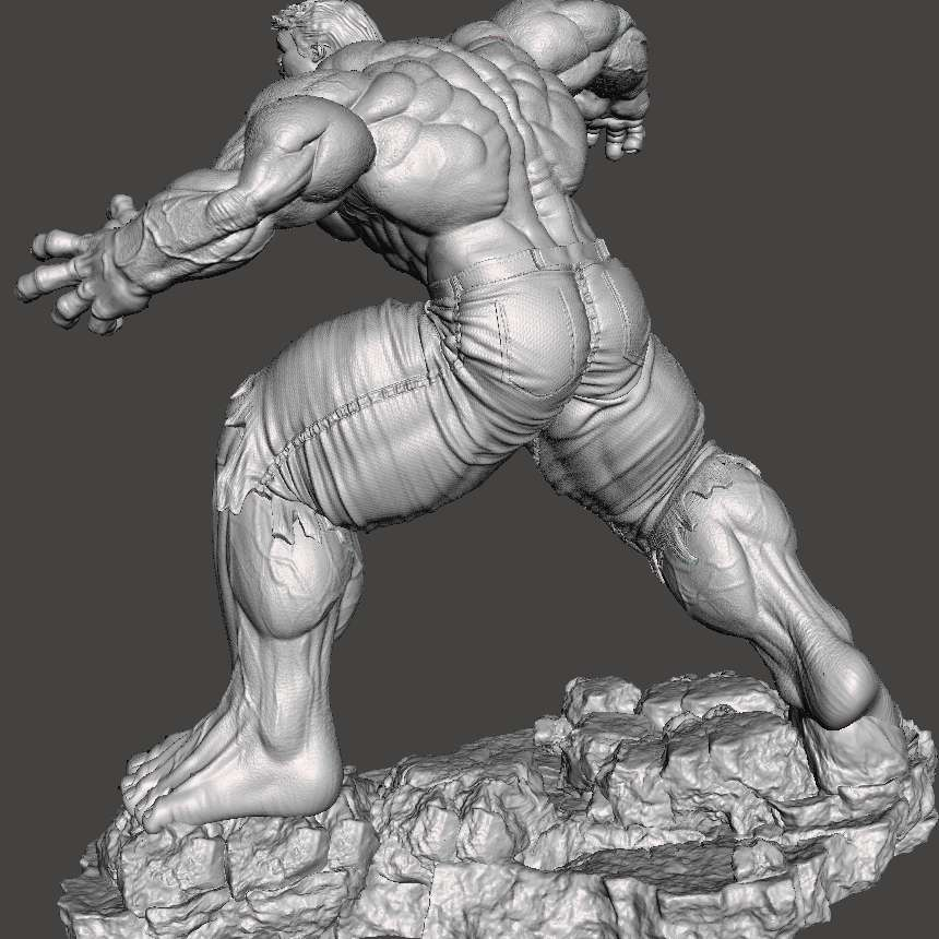 Hulk 2017 - Object created entirely in 3D, divided into parts to facilitate printing and to be able to generate a larger final product, which can be done on smaller printers. It uses invisible cutting technique, when assembled, you cannot see where it joins parts. Using pins to unite, which makes it easier if you want to transport. Hulk 2017 version - filme based 2017. Full file, high resolution, ready for 3d printing. Divided into parts, with fittings to resize to the size you want. - The best files for 3D printing in the world. Stl models divided into parts to facilitate 3D printing. All kinds of characters, decoration, cosplay, prosthetics, pieces. Quality in 3D printing. Affordable 3D models. Low cost. Collective purchases of 3D files.