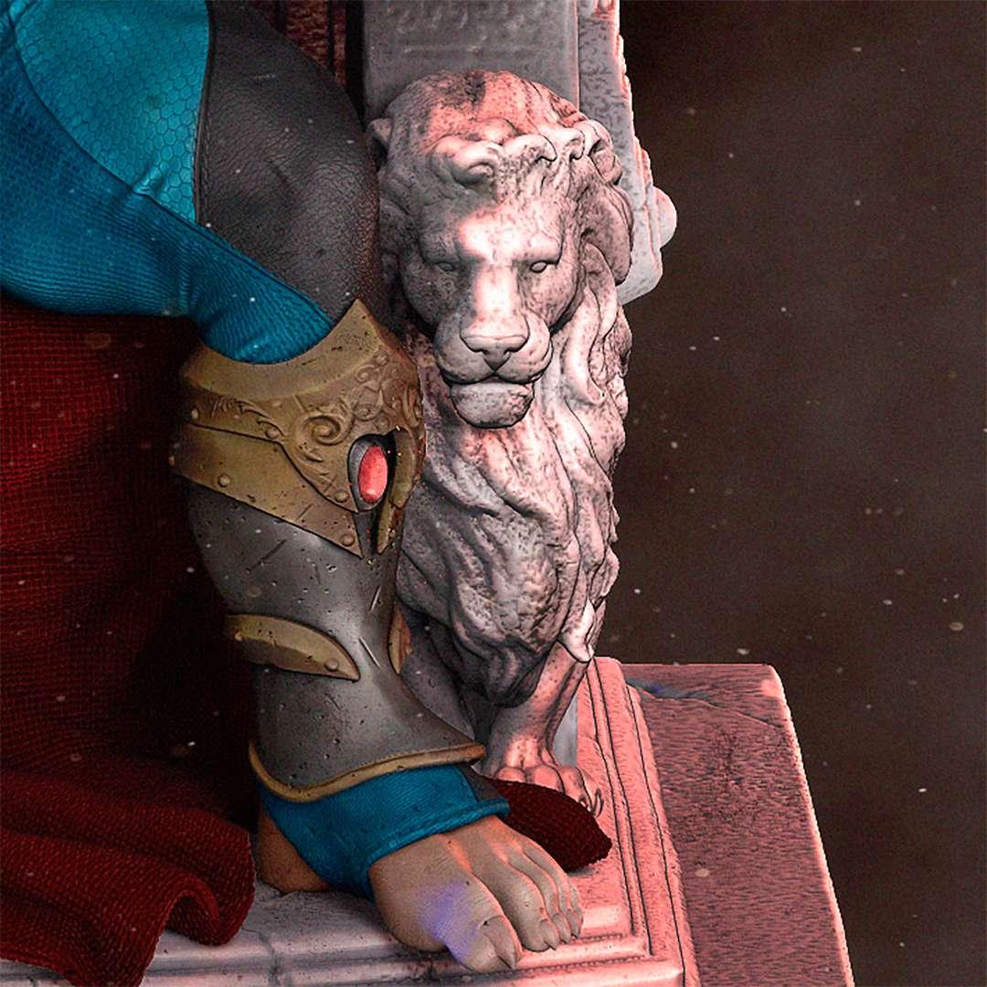 Rei Lion-o no Trono Fanart  - Inspired by the comics Thundercats (Dogs of War).   - Los mejores archivos para impresión 3D del mundo. Modelos Stl divididos en partes para facilitar la impresión 3D. Todo tipo de personajes, decoración, cosplay, prótesis, piezas. Calidad en impresión 3D. Modelos 3D asequibles. Bajo costo. Compras colectivas de archivos 3D.