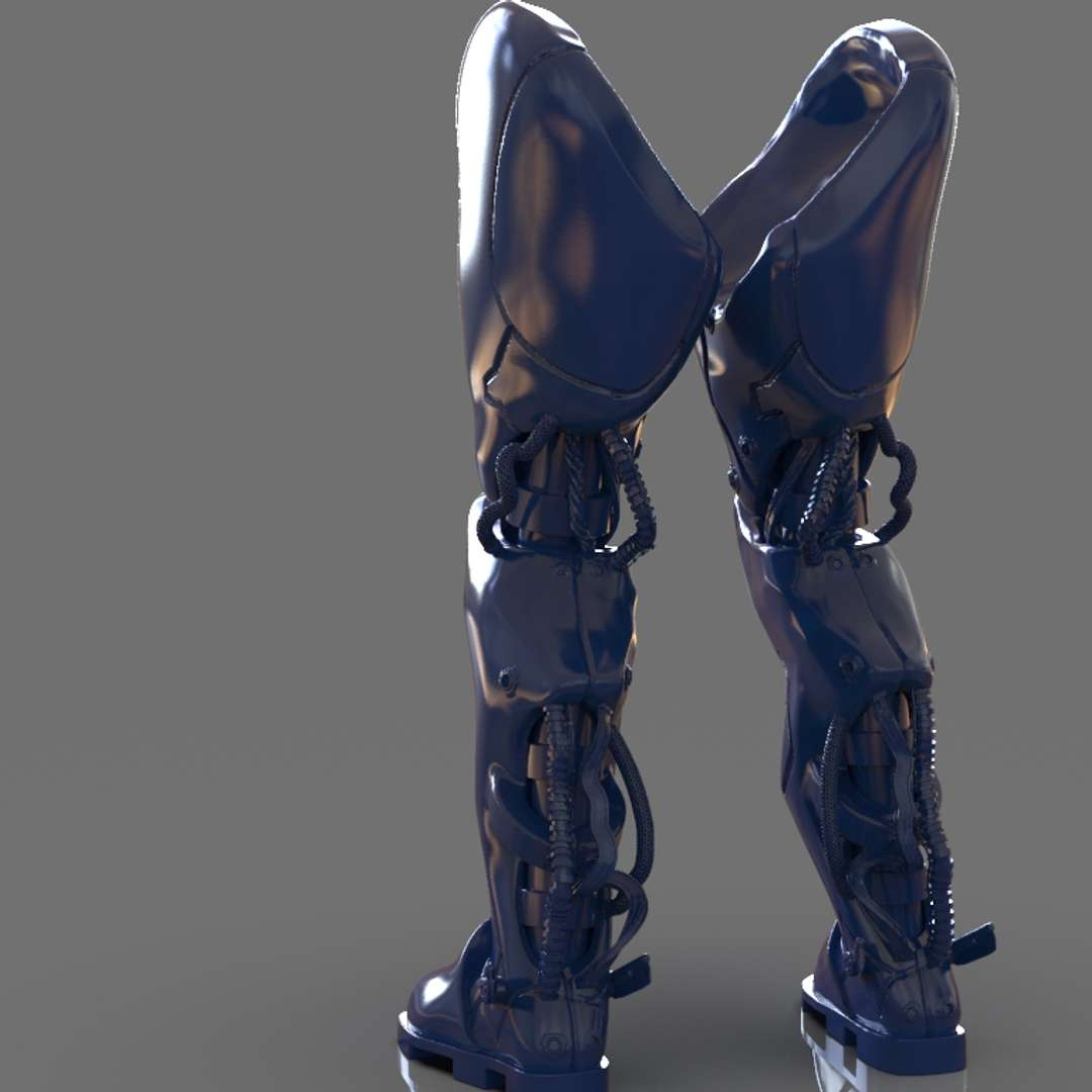 Robotic Legs - A Robotic Leg inspired by some artworks made with Pixologic ZBrush I set up for 3d print, I included the STL, OBJ if you want 3d game assets or stl files I can do commission works.   - The best files for 3D printing in the world. Stl models divided into parts to facilitate 3D printing. All kinds of characters, decoration, cosplay, prosthetics, pieces. Quality in 3D printing. Affordable 3D models. Low cost. Collective purchases of 3D files.