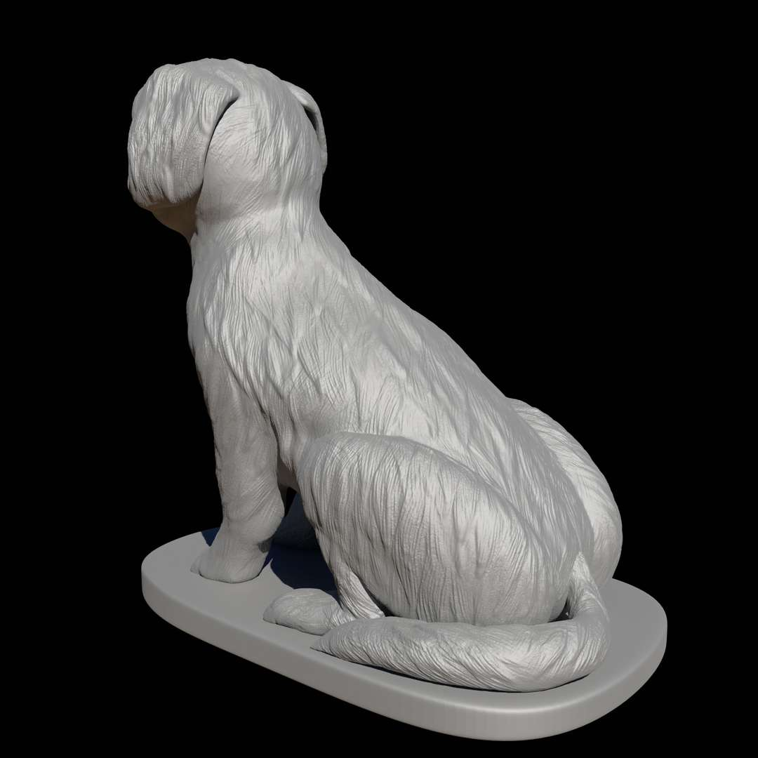 Seated Shih Tzu  - Shih Tzus were (and are!) prized for their companionship, and these adorable, plush canines are deeply loyal, affectionate, and always down to cuddle, which is why they're widely loved across class lines today. The Shih Tzu is family-friendly and adaptable, and their gorgeous locks are enchanting.    This 3d model were sculpted especially for  3d printing.  If you love Shih-tzu this model is for you .  Enjoy !!!  There is  no need to use any kind of  supports ,but i would recommend to use brim just o normalize the flow.  The model showed in the pictures were printed with pla and  0,1 mm resolution.  - The best files for 3D printing in the world. Stl models divided into parts to facilitate 3D printing. All kinds of characters, decoration, cosplay, prosthetics, pieces. Quality in 3D printing. Affordable 3D models. Low cost. Collective purchases of 3D files.