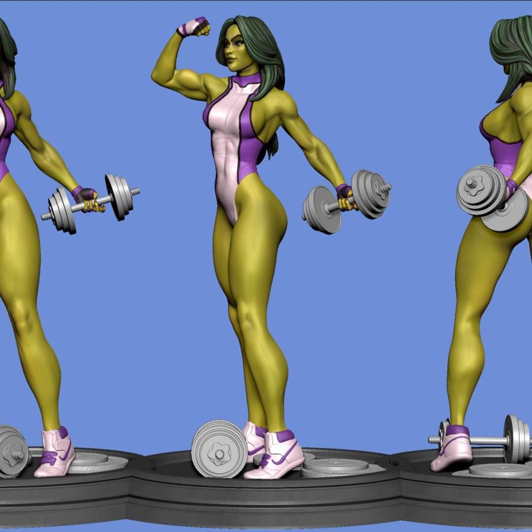 She HUlk fanart  - fanart made about the character she hulk in the marvel comics  3D PRINTING PARAMETERS The scale of the 1:10 scale sculpture will have a size of 20cm    3D file format: STL - Os melhores arquivos para impressão 3D do mundo. Modelos stl divididos em partes para facilitar a impressão 3D. Todos os tipos de personagens, decoração, cosplay, próteses, peças. Qualidade na impressão 3D. Modelos 3D com preço acessível. Baixo custo. Compras coletivas de arquivos 3D.