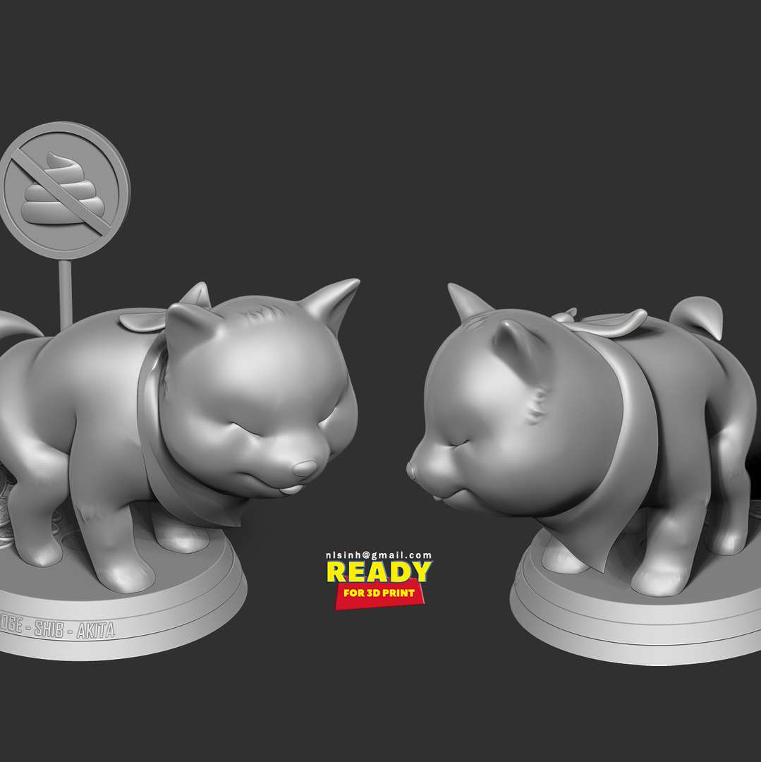 Shiba with cryptocurrency - Lately I've been hearing a lot about cryptocurrencies and about a Shiba dog. So I thought I had to do some artwork related to these two things.  When you purchase this model, you will own:  - STL file with 05 separated files (with key to connect together) is ready for 3D printing.  - Zbrush original files (ZTL) for you to customize as you like. (If you need, DM me)  This is version 1.0 of this model.  Hope you like him. Thanks for viewing! - Los mejores archivos para impresión 3D del mundo. Modelos Stl divididos en partes para facilitar la impresión 3D. Todo tipo de personajes, decoración, cosplay, prótesis, piezas. Calidad en impresión 3D. Modelos 3D asequibles. Bajo costo. Compras colectivas de archivos 3D.