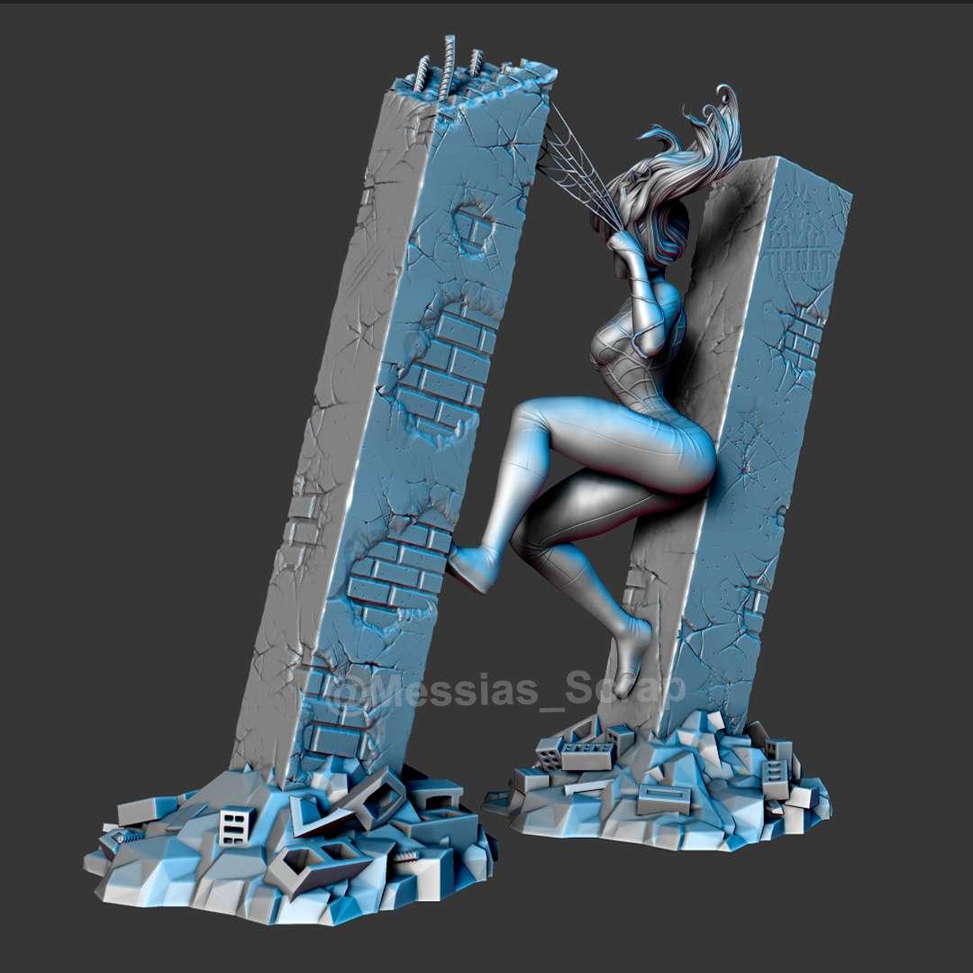 Silk (Cindy Moon) - Silk (Cindy Moon) - High detailed well textured model of Silk on city street as base posing bewteen to building walls. - Os melhores arquivos para impressão 3D do mundo. Modelos stl divididos em partes para facilitar a impressão 3D. Todos os tipos de personagens, decoração, cosplay, próteses, peças. Qualidade na impressão 3D. Modelos 3D com preço acessível. Baixo custo. Compras coletivas de arquivos 3D.