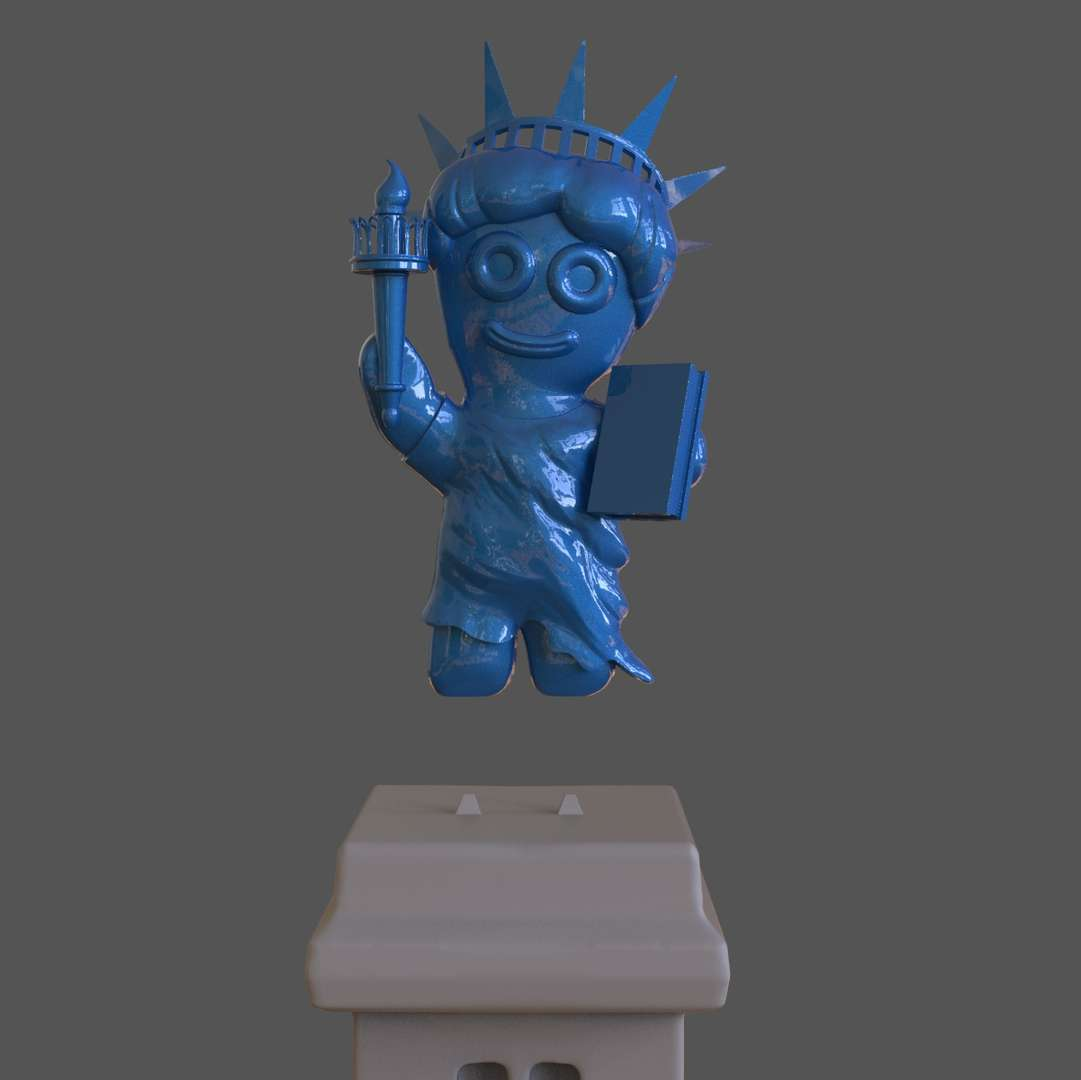 Sour Patch Kid Liberty - A Sour Patch Kid with a Liberty Statue costume ready for 3d print I included two parts version with the base and another without the base Included the OBJ and STL files if you need 3D Game Assets or STL files I can do commission works.   - The best files for 3D printing in the world. Stl models divided into parts to facilitate 3D printing. All kinds of characters, decoration, cosplay, prosthetics, pieces. Quality in 3D printing. Affordable 3D models. Low cost. Collective purchases of 3D files.