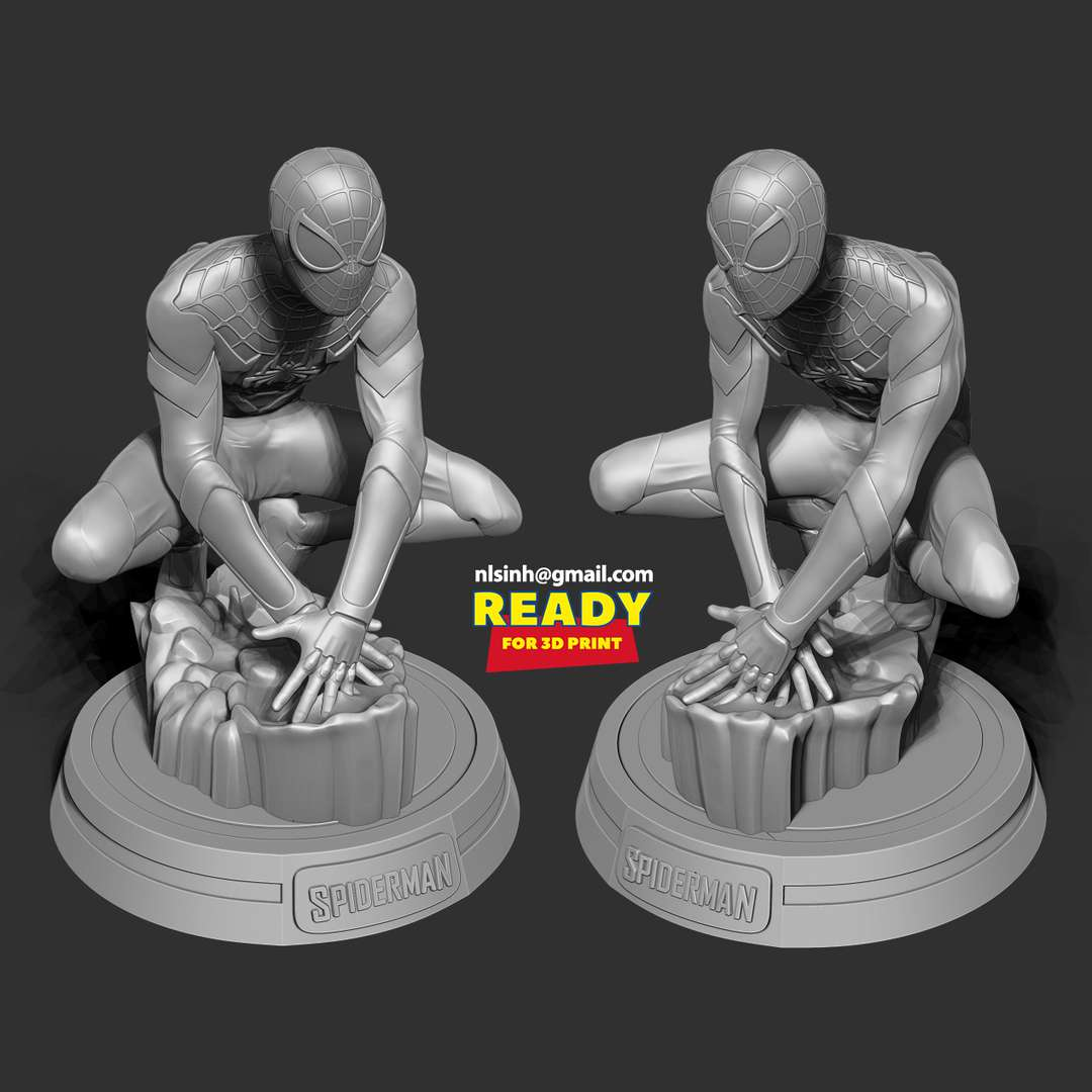 Spiderman Classic - Maybe Spiderman doesn't need to say much, because everyone knows him. I was just hoping to contribute one more character to the 3D printing community.  When you purchase this model, you will own:  - STL, OBJ file with 07 separated files (with key to connect together) is ready for 3D printing.  - Zbrush original files (ZTL) for you to customize as you like.  This is version 1.0 of this model.  Hope you like him. Thanks for viewing! - The best files for 3D printing in the world. Stl models divided into parts to facilitate 3D printing. All kinds of characters, decoration, cosplay, prosthetics, pieces. Quality in 3D printing. Affordable 3D models. Low cost. Collective purchases of 3D files.