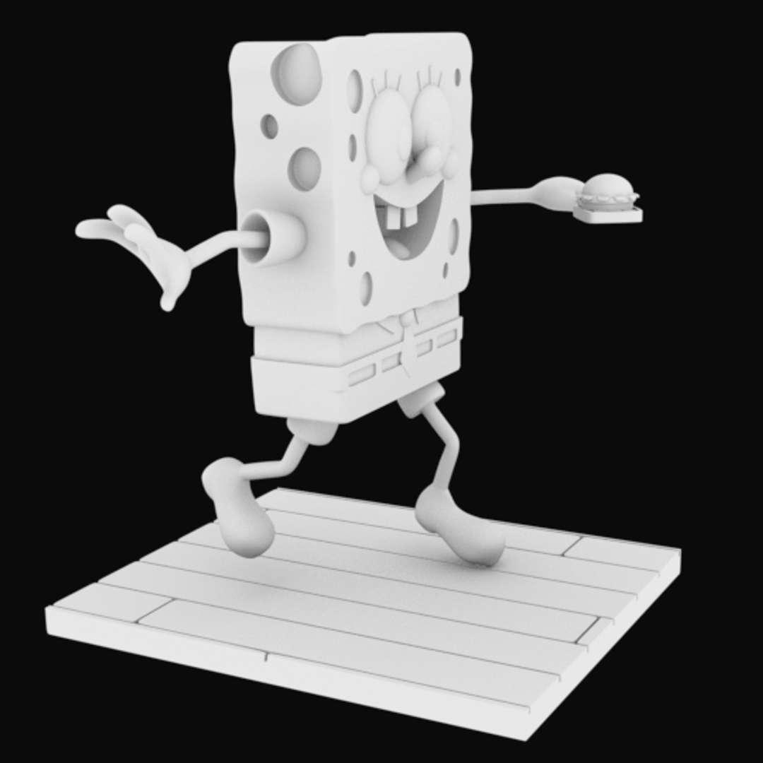 Sponge Bob separeted parts for 3D printing - Sponge Bob model for 3D printing  6 parts for printing - Os melhores arquivos para impressão 3D do mundo. Modelos stl divididos em partes para facilitar a impressão 3D. Todos os tipos de personagens, decoração, cosplay, próteses, peças. Qualidade na impressão 3D. Modelos 3D com preço acessível. Baixo custo. Compras coletivas de arquivos 3D.