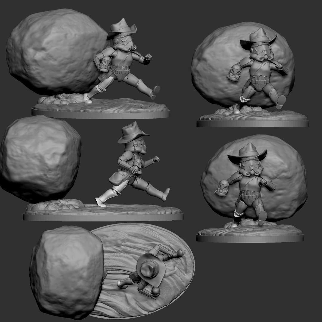 Storm Jones - Model finish - The best files for 3D printing in the world. Stl models divided into parts to facilitate 3D printing. All kinds of characters, decoration, cosplay, prosthetics, pieces. Quality in 3D printing. Affordable 3D models. Low cost. Collective purchases of 3D files.