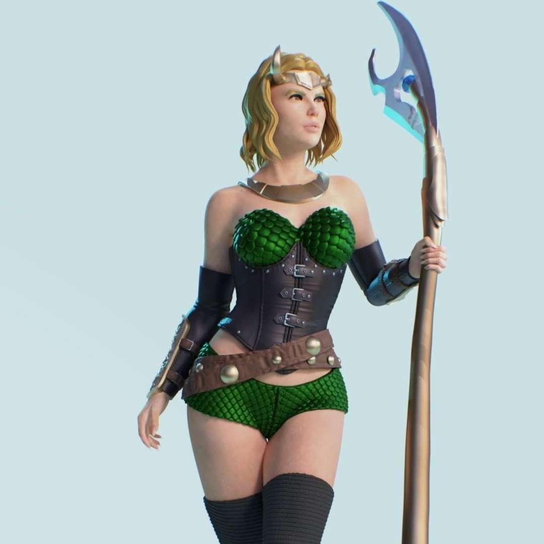 sylvie loki - is a character based on Marvel's 25cm Lady Loki comic book model divided into parts and 2 optional heads - Os melhores arquivos para impressão 3D do mundo. Modelos stl divididos em partes para facilitar a impressão 3D. Todos os tipos de personagens, decoração, cosplay, próteses, peças. Qualidade na impressão 3D. Modelos 3D com preço acessível. Baixo custo. Compras coletivas de arquivos 3D.