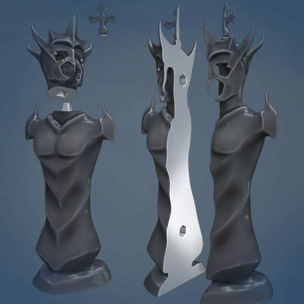 Chess Pieces - Exclusive chess pieces, to decorate and play this amazing game. - The best files for 3D printing in the world. Stl models divided into parts to facilitate 3D printing. All kinds of characters, decoration, cosplay, prosthetics, pieces. Quality in 3D printing. Affordable 3D models. Low cost. Collective purchases of 3D files.