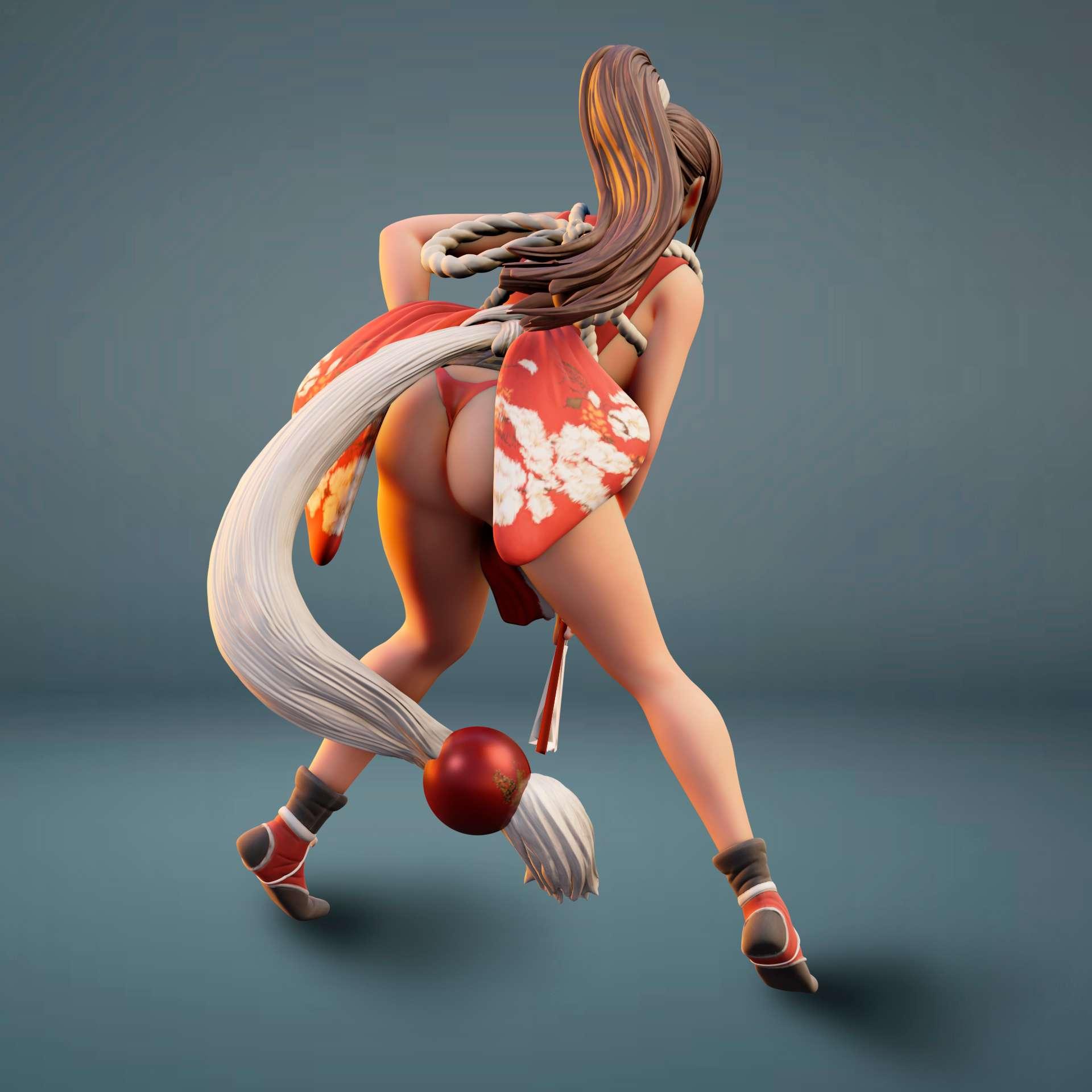 Mai_Shuranui - Mai Shiranui is a player character in the fighting game series Fatal Fury and The King of Fighters  - Os melhores arquivos para impressão 3D do mundo. Modelos stl divididos em partes para facilitar a impressão 3D. Todos os tipos de personagens, decoração, cosplay, próteses, peças. Qualidade na impressão 3D. Modelos 3D com preço acessível. Baixo custo. Compras coletivas de arquivos 3D.