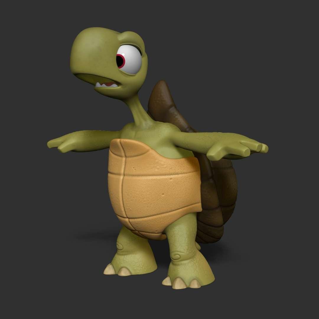 TARTARUGA CARTOON - Cartoon turtle I sculpted in ZBrush for 3D printing.  Tartaruga Cartoon que esculpi no ZBrush para impressão 3D.  Cartoon Turtle for 3d print  File formats STL  model height(in zbrush):235mm cm,width:165 mm, depth:185 mm  Decimated model 1343k points - Os melhores arquivos para impressão 3D do mundo. Modelos stl divididos em partes para facilitar a impressão 3D. Todos os tipos de personagens, decoração, cosplay, próteses, peças. Qualidade na impressão 3D. Modelos 3D com preço acessível. Baixo custo. Compras coletivas de arquivos 3D.