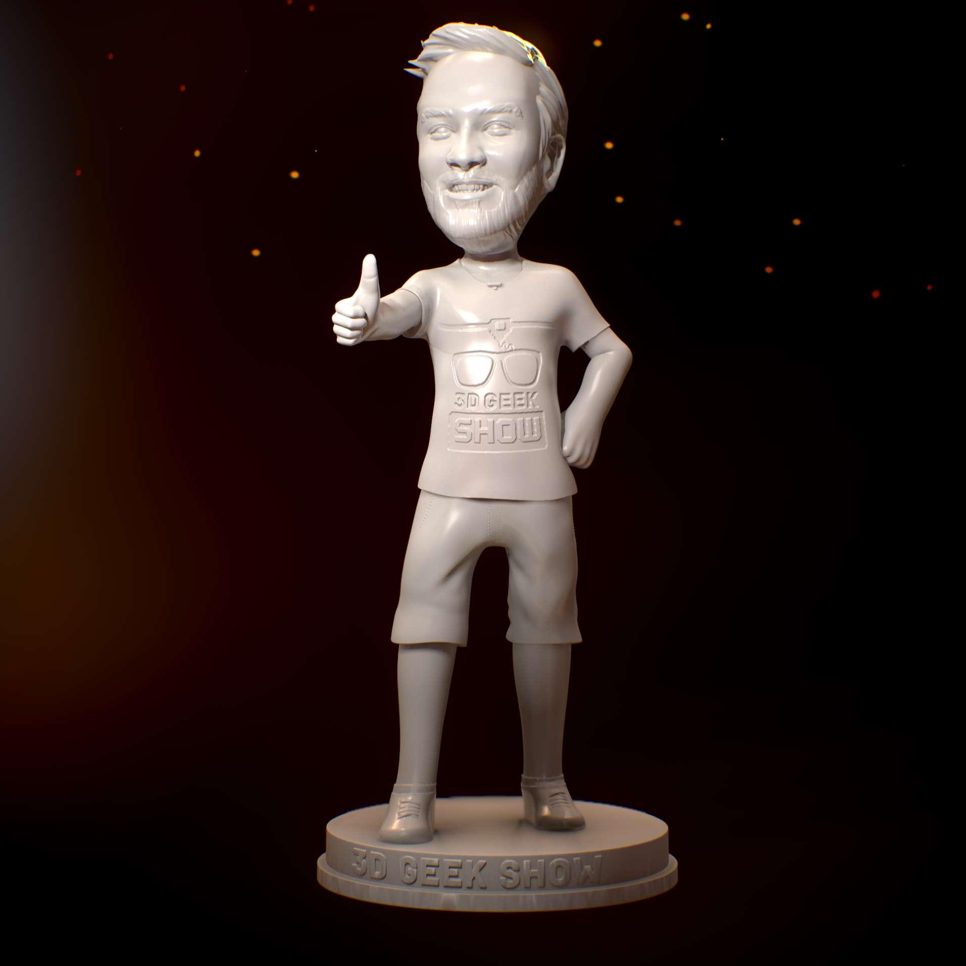 Murilo Laffranchi 3D Geek Show - Modelo do brasileiro Murilo Laffranchi, do canal 3D Geek Show, que está sempre ajudando a comunidade de impressão 3D! - Los mejores archivos para impresión 3D del mundo. Modelos Stl divididos en partes para facilitar la impresión 3D. Todo tipo de personajes, decoración, cosplay, prótesis, piezas. Calidad en impresión 3D. Modelos 3D asequibles. Bajo costo. Compras colectivas de archivos 3D.
