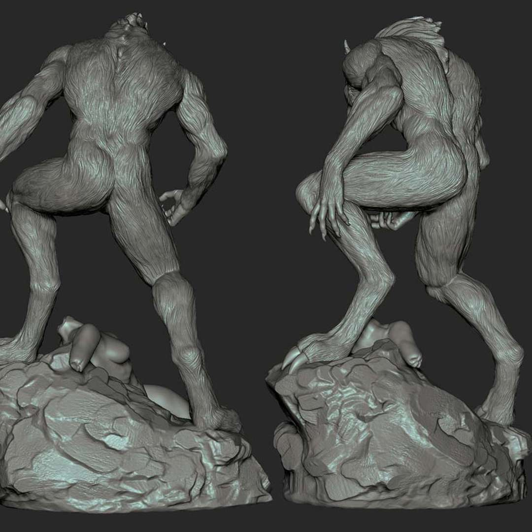 werewolf - werewolf for 3d print, in real life the lobizomen is 2.10 meters tall_ - The best files for 3D printing in the world. Stl models divided into parts to facilitate 3D printing. All kinds of characters, decoration, cosplay, prosthetics, pieces. Quality in 3D printing. Affordable 3D models. Low cost. Collective purchases of 3D files.