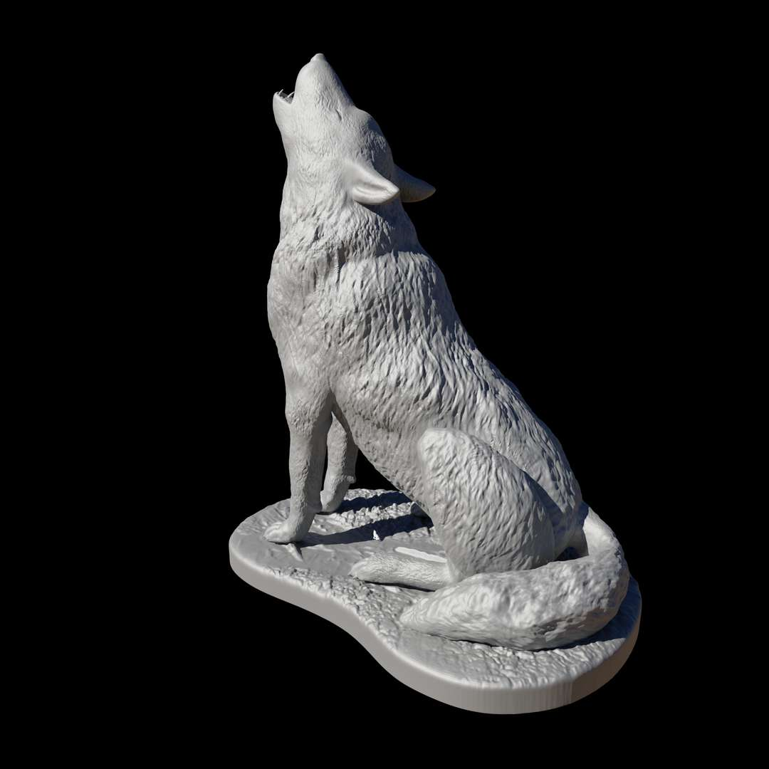 """Wolf howling - Lobo Uivando - """"The wolf that one hears is worse than the orc that one fears. """"  J R R Tolkien   This 3d model were sculpted especially for  3d printing.  If you love wolves or the wild life in general this model is for you , when modelling it i tried to be loyal to the animal anatomy as much as i could.  Enjoy !!!  There is  no need to any kind of  supports ,but i would recommend to use brim.  The wolf in the pictures were printed with pla and  0,08 mm resolution .  - The best files for 3D printing in the world. Stl models divided into parts to facilitate 3D printing. All kinds of characters, decoration, cosplay, prosthetics, pieces. Quality in 3D printing. Affordable 3D models. Low cost. Collective purchases of 3D files."""