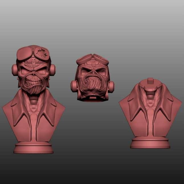 Pilot Iron Lady - Pilot Iron Lady bust cut for easy printing  - Os melhores arquivos para impressão 3D do mundo. Modelos stl divididos em partes para facilitar a impressão 3D. Todos os tipos de personagens, decoração, cosplay, próteses, peças. Qualidade na impressão 3D. Modelos 3D com preço acessível. Baixo custo. Compras coletivas de arquivos 3D.