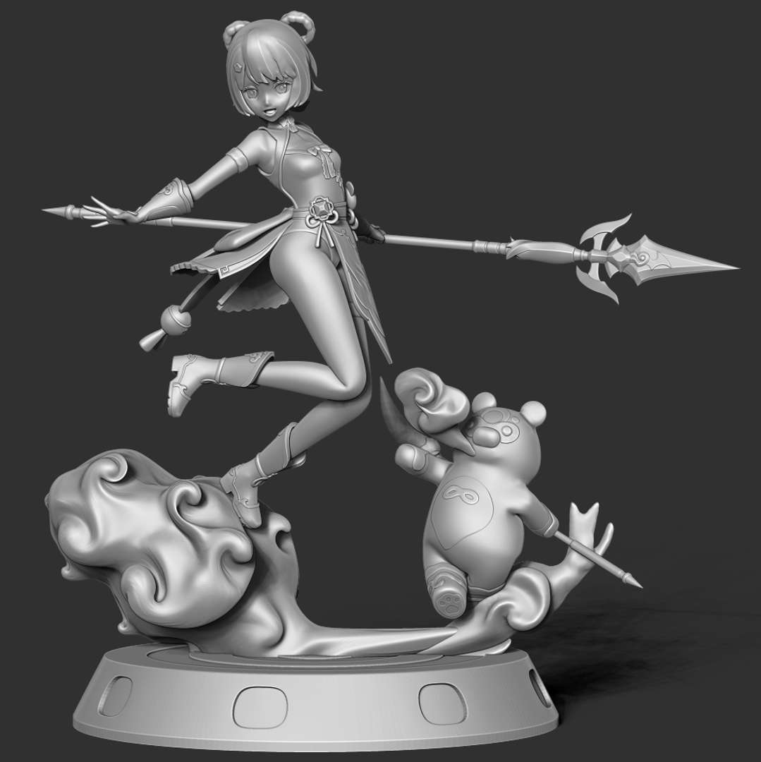 Xiangling - Genshin Impact Fanart  - Xiangling (Chinese: 香菱 Xiānglíng, Fragrant Water Caltrop) is a playable Pyro character in Genshin Impact.  When you purchase this model, you will own:  - STL file with 16 separated files (with key to connect together) is ready for 3D printing.  This is version 1.0 of this model.  Hope you like her. Thanks for viewing! - Os melhores arquivos para impressão 3D do mundo. Modelos stl divididos em partes para facilitar a impressão 3D. Todos os tipos de personagens, decoração, cosplay, próteses, peças. Qualidade na impressão 3D. Modelos 3D com preço acessível. Baixo custo. Compras coletivas de arquivos 3D.