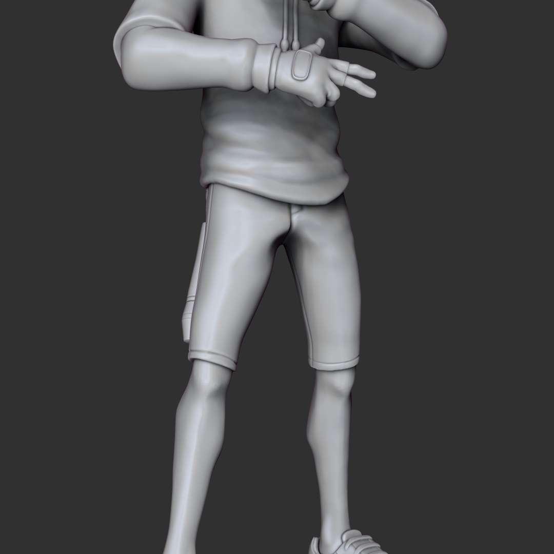 IKONIK - Fortnite - Personagem 'IKONIK' do Fortnite - modelo com 20cm de altura, pinado em 4 partes. (Fortnite 'IKONIK' character - model 20cm tall, pinned in 4 parts.) - Os melhores arquivos para impressão 3D do mundo. Modelos stl divididos em partes para facilitar a impressão 3D. Todos os tipos de personagens, decoração, cosplay, próteses, peças. Qualidade na impressão 3D. Modelos 3D com preço acessível. Baixo custo. Compras coletivas de arquivos 3D.