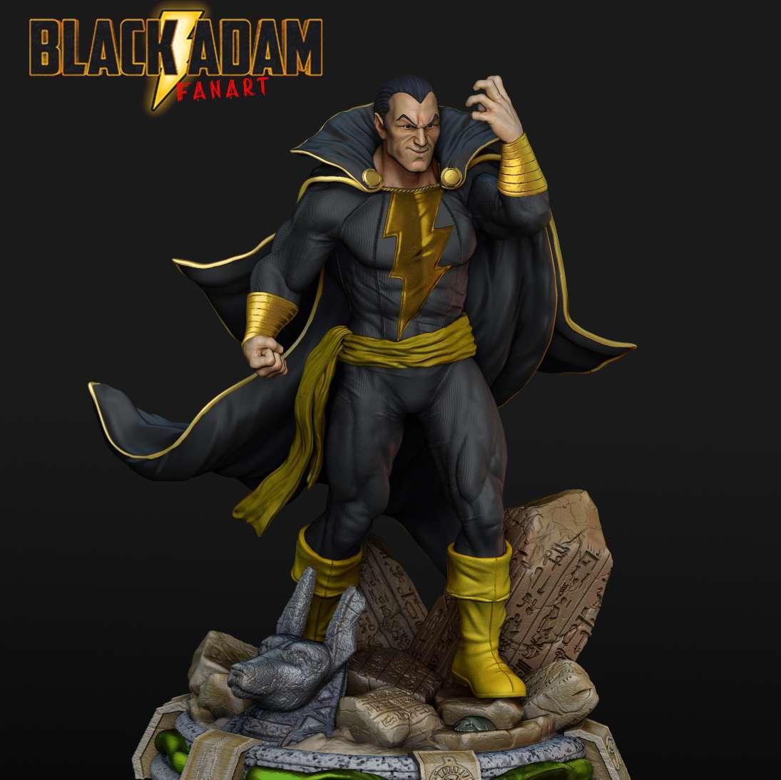 Black Adam  - Sculpture of the Black Adam - Os melhores arquivos para impressão 3D do mundo. Modelos stl divididos em partes para facilitar a impressão 3D. Todos os tipos de personagens, decoração, cosplay, próteses, peças. Qualidade na impressão 3D. Modelos 3D com preço acessível. Baixo custo. Compras coletivas de arquivos 3D.