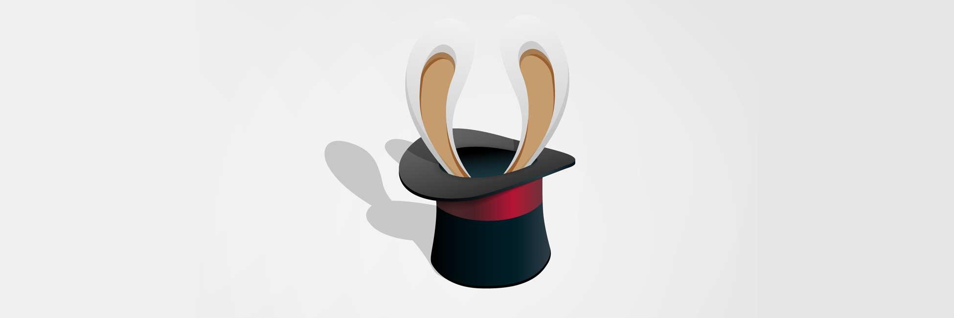 Conejo en el sombrero