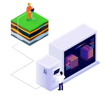 soluciones inteligencia artificial oil & gas volumen sismico machine learning
